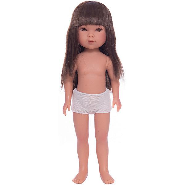 Кукла Карлотта, брюнетка с челкой, Vestida de AzulКуклы<br>Характеристики товара:<br><br>• возраст: от 3 лет;<br>• материал: винил;<br>• в комплекте: кукла;<br>• высота куклы: 28 см;<br>• размер упаковки: 35х13х7 см;<br>• вес упаковки: 380 гр.;<br>• страна производитель: Испания.<br><br>Кукла Карлотта брюнетка с челкой Vestida de Azul станет отличным подарком для девочки, которая любит наряжать куколок и придумывать им стильные образы. У Карлотты милое личико с большими живыми глазками, щечками с легким румянцем. Густые темные волосы с челкой очень похожи на натуральные. Девочка сможет расчесывать их, укладывать, заплетать, придумывая кукле разнообразные прически.<br><br>Куклу Карлотту брюнетка с челкой Vestida de Azul можно приобрести в нашем интернет-магазине.<br><br>Ширина мм: 350<br>Глубина мм: 120<br>Высота мм: 80<br>Вес г: 380<br>Возраст от месяцев: 36<br>Возраст до месяцев: 2147483647<br>Пол: Женский<br>Возраст: Детский<br>SKU: 6844309