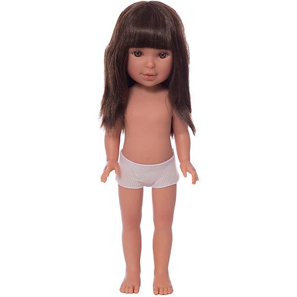 Кукла Паулина, брюнетка с челкой, Vestida de AzulКуклы<br>Характеристики товара:<br><br>• возраст: от 3 лет;<br>• материал: винил;<br>• в комплекте: кукла;<br>• высота куклы: 33 см;<br>• размер упаковки: 35х14х7 см;<br>• вес упаковки: 370 гр.;<br>• страна производитель: Испания.<br><br>Кукла Паулина брюнетка с челкой Vestida de Azul станет отличным подарком для девочки, которая любит наряжать куколок и придумывать им стильные образы. У Паулины милое личико с большими живыми глазками, длинными ресницами и щечками с легким румянцем. Густые темные волосы с челкой очень похожи на натуральные. Девочка сможет расчесывать их, укладывать, заплетать, придумывая кукле разнообразные прически. У куклы подвижные руки, ноги и голова.<br><br>Куклу Паулину брюнетка с челкой Vestida de Azul можно приобрести в нашем интернет-магазине.<br>Ширина мм: 350; Глубина мм: 120; Высота мм: 80; Вес г: 700; Возраст от месяцев: 36; Возраст до месяцев: 2147483647; Пол: Женский; Возраст: Детский; SKU: 6844311;