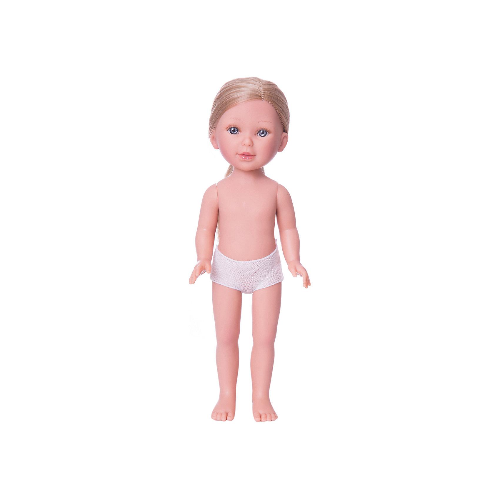 Кукла Паулина, блондинка без челки, Vestida de AzulКлассические куклы<br>Характеристики товара:<br><br>• возраст: от 3 лет;<br>• материал: винил;<br>• в комплекте: кукла;<br>• высота куклы: 33 см;<br>• размер упаковки: 35х14х7 см;<br>• вес упаковки: 370 гр.;<br>• страна производитель: Испания.<br><br>Кукла Паулина блондинка без челки Vestida de Azul станет отличным подарком для девочки, которая любит наряжать куколок и придумывать им стильные образы. У Паулины милое личико с большими живыми глазками, длинными ресницами и щечками с легким румянцем. Густые светлые волосы куклы очень похожи на натуральные. Девочка сможет расчесывать их, укладывать, заплетать, придумывая кукле разнообразные прически. У куклы подвижные руки, ноги и голова.<br><br>Куклу Паулину блондинка без челки Vestida de Azul можно приобрести в нашем интернет-магазине.<br><br>Ширина мм: 350<br>Глубина мм: 120<br>Высота мм: 80<br>Вес г: 700<br>Возраст от месяцев: 36<br>Возраст до месяцев: 2147483647<br>Пол: Женский<br>Возраст: Детский<br>SKU: 6844312