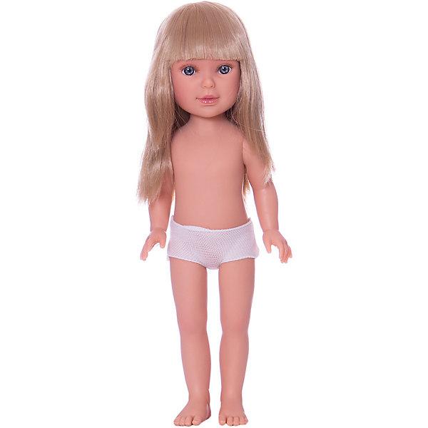 Кукла Паулина, блондинка с челкой, Vestida de AzulБренды кукол<br>Характеристики товара:<br><br>• возраст: от 3 лет;<br>• материал: винил;<br>• в комплекте: кукла;<br>• высота куклы: 33 см;<br>• размер упаковки: 35х14х7 см;<br>• вес упаковки: 370 гр.;<br>• страна производитель: Испания.<br><br>Кукла Паулина блондинка с челкой Vestida de Azul станет отличным подарком для девочки, которая любит наряжать куколок и придумывать им стильные образы. У Паулины милое личико с большими живыми глазками, длинными ресницами и щечками с легким румянцем. Густые светлые волосы с челкой очень похожи на натуральные. Девочка сможет расчесывать их, укладывать, заплетать, придумывая кукле разнообразные прически. У куклы подвижные руки, ноги и голова.<br><br>Куклу Паулину блондинка с челкой Vestida de Azul можно приобрести в нашем интернет-магазине.<br>Ширина мм: 350; Глубина мм: 120; Высота мм: 80; Вес г: 700; Возраст от месяцев: 36; Возраст до месяцев: 2147483647; Пол: Женский; Возраст: Детский; SKU: 6844313;