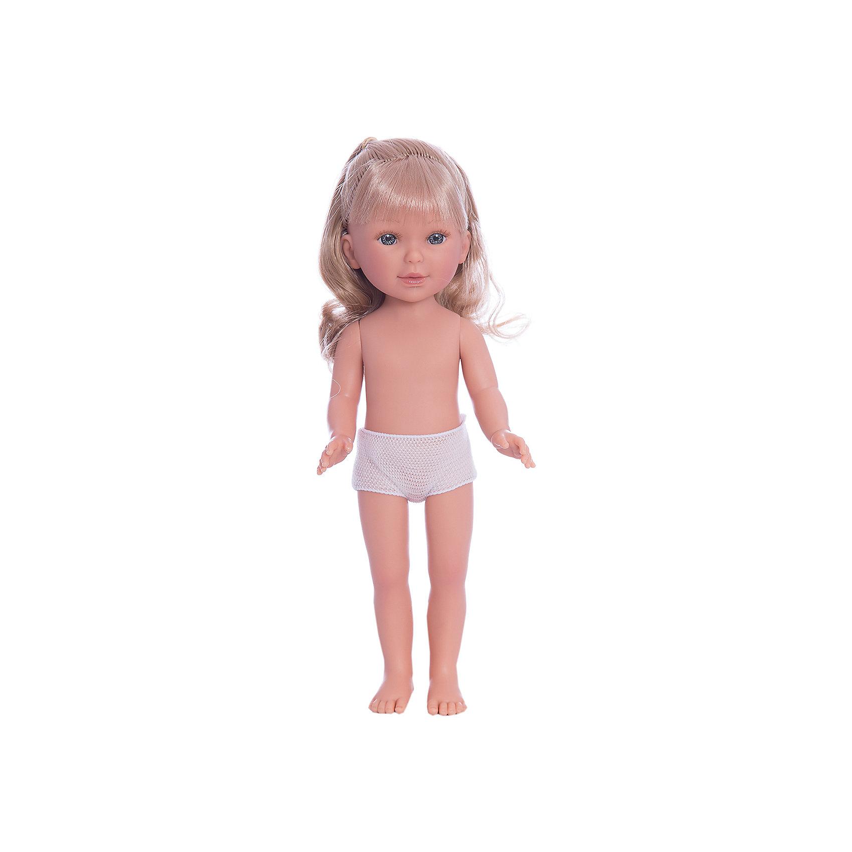 Кукла Паулина, блондинка волнистые волосы, Vestida de AzulКлассические куклы<br>Характеристики товара:<br><br>• возраст: от 3 лет;<br>• материал: винил;<br>• в комплекте: кукла;<br>• высота куклы: 33 см;<br>• размер упаковки: 35х14х7 см;<br>• вес упаковки: 370 гр.;<br>• страна производитель: Испания.<br><br>Кукла Паулина блондинка волнистые волосы Vestida de Azul станет отличным подарком для девочки, которая любит наряжать куколок и придумывать им стильные образы. У Паулины милое личико с большими живыми глазками, длинными ресницами и щечками с легким румянцем. Мягкие волнистые волосы куклы очень похожи на натуральные. Девочка сможет расчесывать их, укладывать, заплетать, придумывая кукле разнообразные прически. У куклы подвижные руки, ноги и голова.<br><br>Куклу Паулину блондинка волнистые волосы Vestida de Azul можно приобрести в нашем интернет-магазине.<br><br>Ширина мм: 350<br>Глубина мм: 120<br>Высота мм: 80<br>Вес г: 700<br>Возраст от месяцев: 36<br>Возраст до месяцев: 2147483647<br>Пол: Женский<br>Возраст: Детский<br>SKU: 6844314
