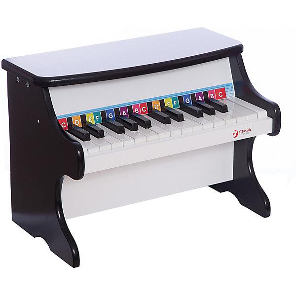 Детское пианино классическое, Classic WorldПианино<br>Характеристики товара:<br><br>• возраст: от 1,5 лет;<br>• материал: дерево;<br>• размер пианино: 40х25х30 см;<br>• размер упаковки: 45х35х31 см;<br>• вес упаковки: 6,08 кг;<br>• страна производитель: Китай.<br><br>Детское пианино классическое Classic World станет первым музыкальным инструментом ребенка, научит базовым навыкам игры на фортепиано, привьет любовь к музыке. Игра на пианино способствует развитию умственных способностей, мелкой моторики рук, музыкального слуха.<br><br>Ноты обозначены цветными буквами. Нажимая на них, ребенок сможет сочинить свои первые музыкальные композиции. Корпус пианино изготовлен из качественного натурального дерева.<br><br>Детское пианино классическое Classic World можно приобрести в нашем интернет-магазине.<br>Ширина мм: 400; Глубина мм: 300; Высота мм: 250; Вес г: 5400; Возраст от месяцев: 36; Возраст до месяцев: 2147483647; Пол: Унисекс; Возраст: Детский; SKU: 6844316;