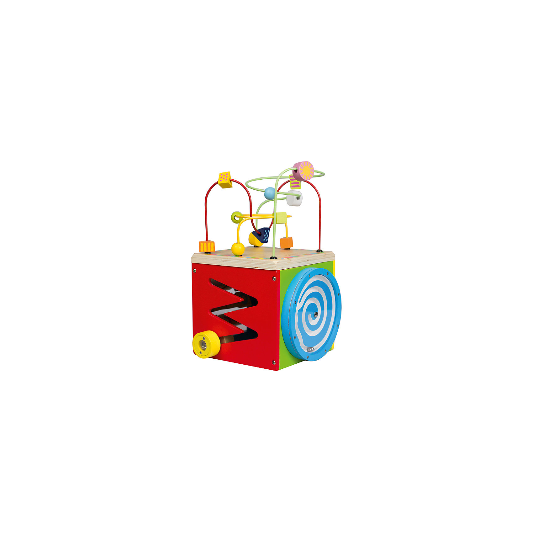 Лабиринт многофункциональныи? «Куб, Classic WorldРазвивающие игрушки<br>Классический развивающий игровой центр для малышей Куб включает в себя: лабиринт, сортер, крестики-нолики и логические игры различного уровня сложности. Устойчивая конструкция и натуральное дерево делает игрушку безопасной для малышей. <br>1. Развивающий центр Куб объединяет в себе 5 различных видов лабиринтов и логическую игру крестики-нолики. Все задания разного уровня сложности, поэтому в Куб интересно играть детям разного возраста.<br>2. Приятные на ощупь формы и фигурки, их яркие расцветки нравятся детям.<br>3. Малышам нравится перекатывать яркие фигурки по изогнутым в разных плоскостях проволокам. <br>4. Во время игры ребенок учится анализировать: как сделать так, чтобы фигурка с одного конца лабиринта переместилась на другой, чтобы нанизанные на проволоку детали не столкнулись между собой. <br>5. Перекатывая фигурки по лабиринтам, ребенок развивает пространственное мышление и мелкую моторику, логику и воображение.<br>6. Куб из дерева имеет устойчивую конструкцию, поэтому полностью безопасен для малышей.<br><br>Ширина мм: 260<br>Глубина мм: 370<br>Высота мм: 245<br>Вес г: 2300<br>Возраст от месяцев: 12<br>Возраст до месяцев: 2147483647<br>Пол: Унисекс<br>Возраст: Детский<br>SKU: 6844322