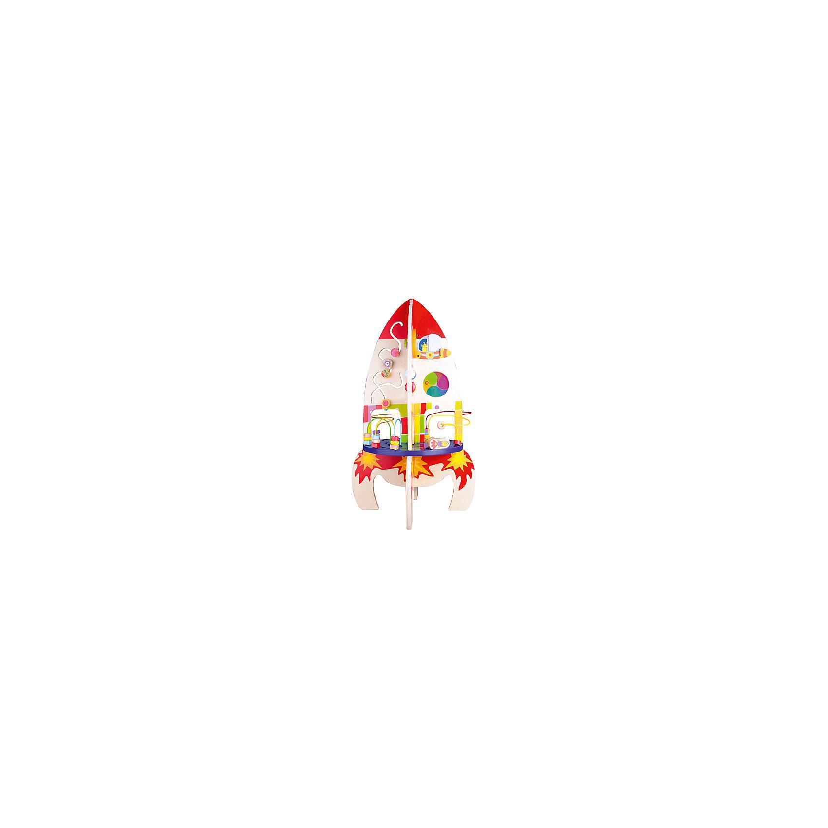 Развивающии? центр «Ракета, высота 62 см, Classic WorldИгровые столики и центры<br>Характеристики товара:<br><br>• возраст: от 1,5 лет;<br>• материал: дерево;<br>• высота центра: 62 см;<br>• размер упаковки: 32х20х44 см;<br>• вес упаковки: 1,8 кг;<br>• страна производитель: Китай.<br><br>Развивающий центр «Ракета» Classic World выполнен в виде большой разноцветной ракеты с 4 устойчивыми ножками. Центр включает в себя разнообразные увлекательные и развивающие игры, лабиринт, шестеренки, зеркало, счеты. <br><br>В процессе игры с лабиринтом, шестеренками развиваются мелкая моторика рук, хватательный рефлекс, логическое и пространственное мышление. Счеты и циферблат помогут малышу выучить цифры и основы счета.<br><br>Центр выполнен из качественного натурального дерева, хорошо отшлифован и не имеет острых опасных деталей.<br><br>Развивающий центр «Ракета» Classic World можно приобрести в интернет-магазине.<br><br>Ширина мм: 320<br>Глубина мм: 440<br>Высота мм: 200<br>Вес г: 1800<br>Возраст от месяцев: 12<br>Возраст до месяцев: 2147483647<br>Пол: Унисекс<br>Возраст: Детский<br>SKU: 6844323