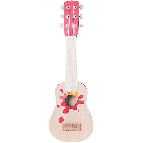 Красная деревянная гитара Гавайи, Classic WorldДетские музыкальные инструменты<br>Характеристики товара:<br><br>• возраст: от 3 лет;<br>• материал: дерево, нейлон;<br>• длина гитары: 53 см;<br>• размер упаковки: 56,5х20х8,5 см;<br>• вес упаковки: 645 гр.;<br>• страна производитель: Китай.<br><br>Красная деревянная гитара «Гавайи» Classic World станет для ребенка первым музыкальным инструментом, познакомит с навыками игры на гитаре, привьет любовь к музыке. Игра на инструменте развивает музыкальный слух, чувство такта и ритма. Гитара выполнена из качественного натурального дерева.<br><br>Красную деревянную гитару «Гавайи» Classic World можно приобрести в нашем интернет-магазине.<br>Ширина мм: 545; Глубина мм: 65; Высота мм: 206; Вес г: 460; Возраст от месяцев: 36; Возраст до месяцев: 2147483647; Пол: Унисекс; Возраст: Детский; SKU: 6844326;