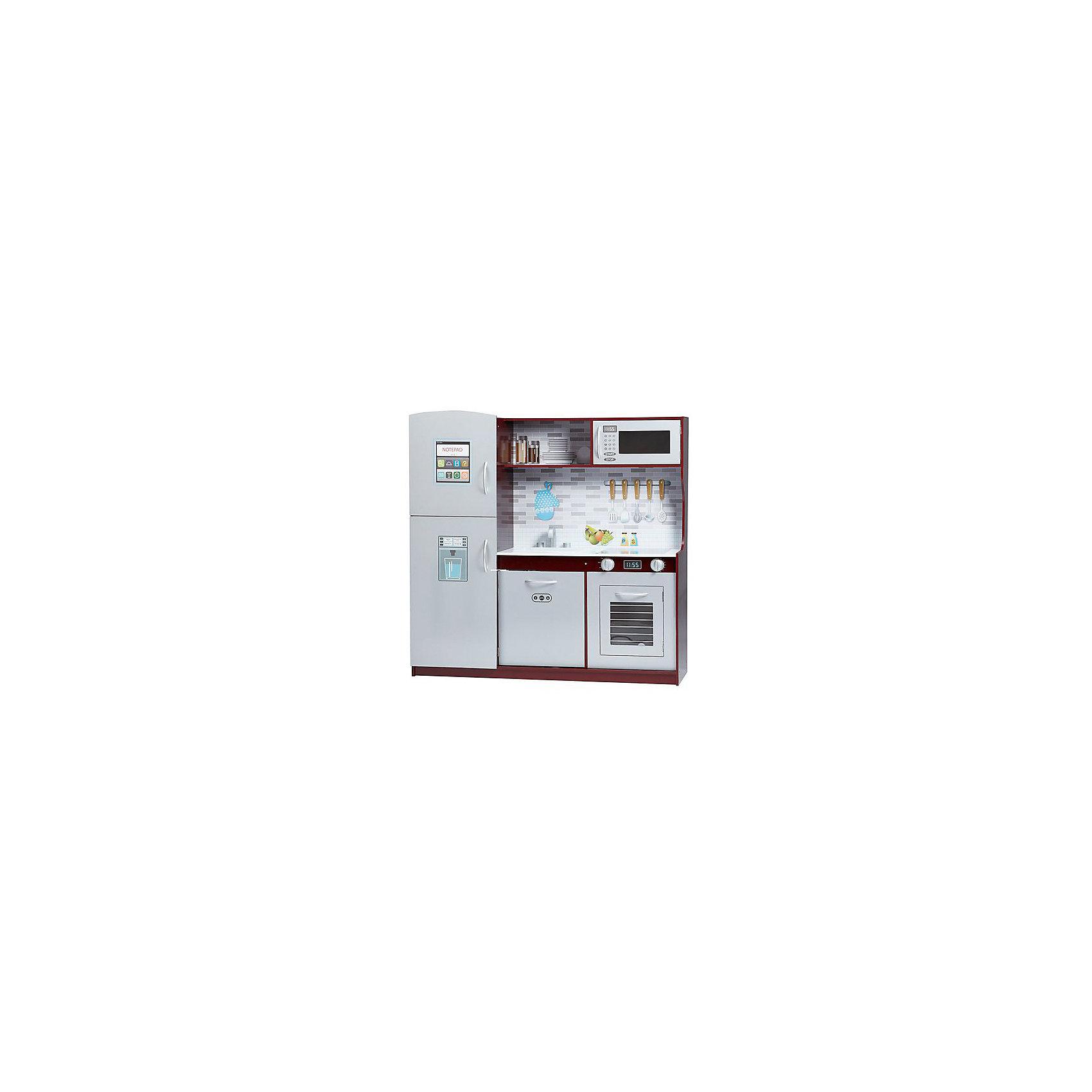 Большая современная детская кухня из дерева Модерн, Kids4kidsДетские кухни<br>1. Стильная игровая кухня из дерева в современном дизайне станет отличным подарком для мальчиков и девочек.<br>2. Большая современная детская кухня из дерева Модерн - это вместительная площадка для сюжетно-ролевых игр в повара. Игрушка включает: двухкамерный холодильник, микроволновку, посудомоечную машину, плиту, мойку. Включатели газа и кран поворачиваются. Стенки обклеены имитациями интерьера кухни. <br>3. Необычный дизайн превращает игровую кухню в настоящее украшение интерьера детской. А благодаря обилию полочек и шкафчиков в ней удобно хранить  все аксессуары для игр, поддерживая порядок в комнате.<br>4. Сюжетные игры в повара развивают у детей навыки социализации, воображение и фантазию, мелкую моторику и логику.<br>5. В наборе подробная инструкция по сборке с картинками. <br>6. Все детали выполнены из экологически чистого дерева, МДФ, рабочая поверхность оклеена красочной пленкой.<br><br>Ширина мм: 420<br>Глубина мм: 180<br>Высота мм: 1100<br>Вес г: 20000<br>Возраст от месяцев: 36<br>Возраст до месяцев: 2147483647<br>Пол: Унисекс<br>Возраст: Детский<br>SKU: 6844329