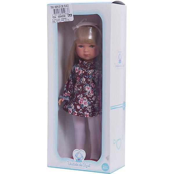 Кукла Карлотта, блондинка с челкой, Весна Бохо Шик, Vestida de AzulКуклы<br>Характеристики товара:<br><br>• возраст: от 3 лет;<br>• материал: винил, текстиль;<br>• в комплекте: кукла, платье;<br>• высота куклы: 28 см;<br>• размер упаковки: 34х14х9 см;<br>• вес упаковки: 355 гр.;<br>• страна производитель: Испания.<br><br>Кукла Карлотта блондинка с челкой «Весна Бохо Шик» Vestida de Azul одета в цветное платье и туфельки, а на голове повязана ленточка. У Карлотты милое личико с большими живыми глазками, щечками с легким румянцем. Густые светлые волосы с челкой очень похожи на натуральные. Девочка сможет расчесывать их, укладывать, заплетать, придумывая кукле разнообразные прически.<br><br>Куклу Карлотту блондинка с челкой «Весна Бохо Шик» Vestida de Azul можно приобрести в нашем интернет-магазине.<br><br>Ширина мм: 195<br>Глубина мм: 95<br>Высота мм: 350<br>Вес г: 380<br>Возраст от месяцев: 36<br>Возраст до месяцев: 2147483647<br>Пол: Женский<br>Возраст: Детский<br>SKU: 6844332