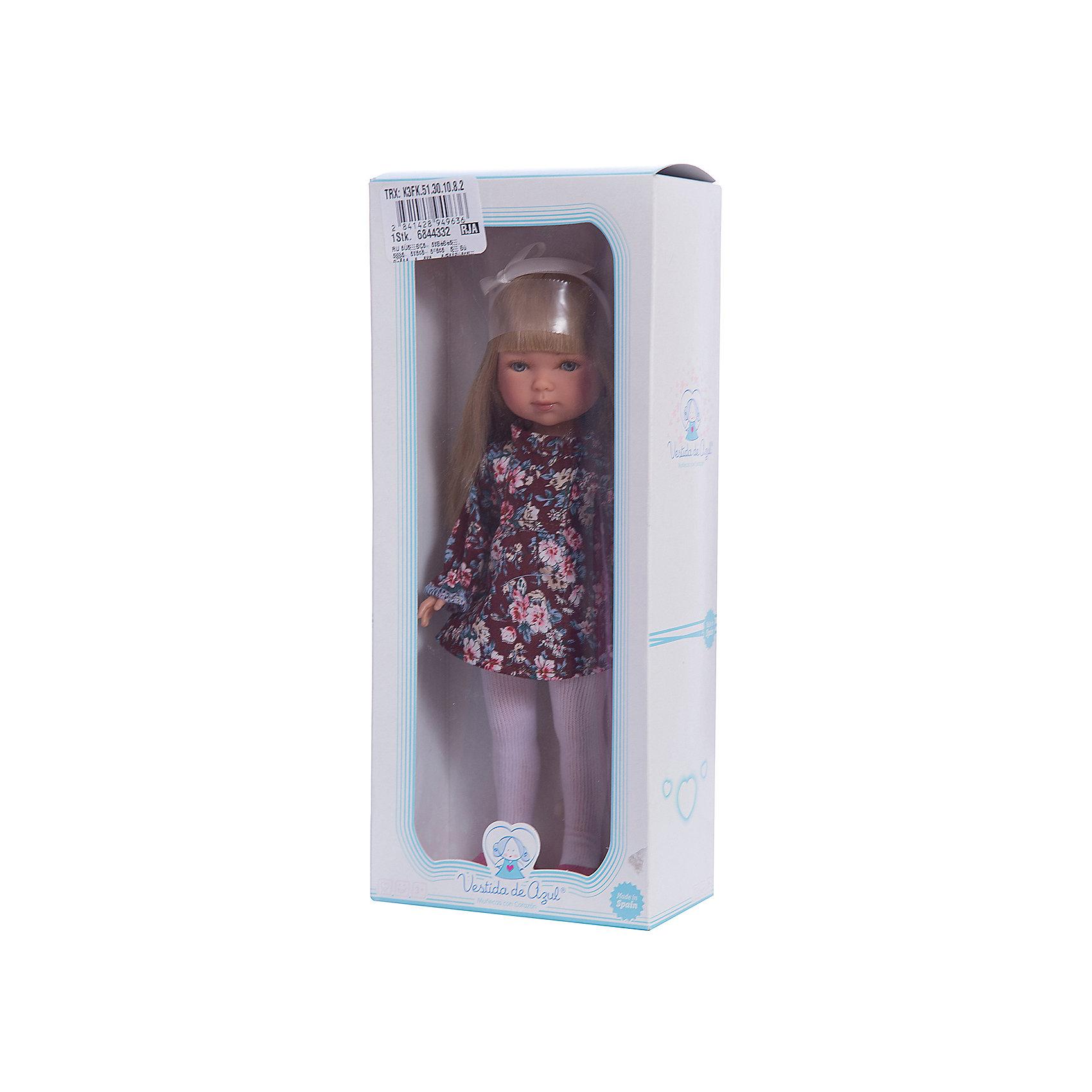 Кукла Карлотта, блондинка с челкой, Весна Бохо Шик, Vestida de AzulКлассические куклы<br>Характеристики товара:<br><br>• возраст: от 3 лет;<br>• материал: винил, текстиль;<br>• в комплекте: кукла, платье;<br>• высота куклы: 28 см;<br>• размер упаковки: 34х14х9 см;<br>• вес упаковки: 355 гр.;<br>• страна производитель: Испания.<br><br>Кукла Карлотта блондинка с челкой «Весна Бохо Шик» Vestida de Azul одета в цветное платье и туфельки, а на голове повязана ленточка. У Карлотты милое личико с большими живыми глазками, щечками с легким румянцем. Густые светлые волосы с челкой очень похожи на натуральные. Девочка сможет расчесывать их, укладывать, заплетать, придумывая кукле разнообразные прически.<br><br>Куклу Карлотту блондинка с челкой «Весна Бохо Шик» Vestida de Azul можно приобрести в нашем интернет-магазине.<br><br>Ширина мм: 195<br>Глубина мм: 95<br>Высота мм: 350<br>Вес г: 380<br>Возраст от месяцев: 36<br>Возраст до месяцев: 2147483647<br>Пол: Женский<br>Возраст: Детский<br>SKU: 6844332
