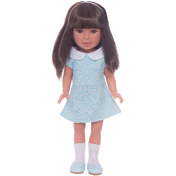 Кукла Паулина, брюнетка с челкой, Лето Оксфорд, Vestida de AzulКуклы<br>Характеристики товара:<br><br>• возраст: от 3 лет;<br>• материал: винил, текстиль;<br>• в комплекте: кукла, платье;<br>• высота куклы: 33 см;<br>• размер упаковки: 40,5х22,5х10,5 см;<br>• вес упаковки: 700 гр.;<br>• страна производитель: Испания.<br><br>Кукла Паулина брюнетка с челкой «Лето Оксфорд» Vestida de Azul одета в голубое платье и туфельки. У Паулины милое личико с большими живыми глазками, щечками с легким румянцем. Густые темные волосы с челкой очень похожи на натуральные. Девочка сможет расчесывать их, укладывать, заплетать, придумывая кукле разнообразные прически.<br><br>Куклу Паулину брюнетка с челкой «Лето Оксфорд» Vestida de Azul можно приобрести в нашем интернет-магазине.<br>Ширина мм: 225; Глубина мм: 105; Высота мм: 405; Вес г: 700; Возраст от месяцев: 36; Возраст до месяцев: 2147483647; Пол: Женский; Возраст: Детский; SKU: 6844335;