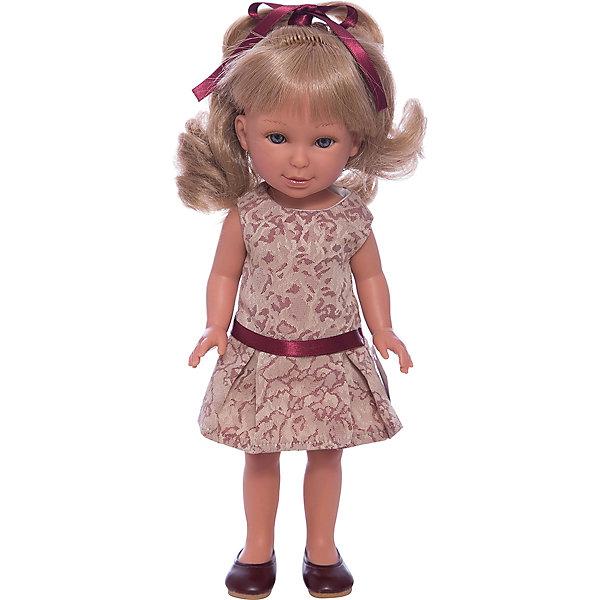 Кукла Паулина, блондинка волнистые волосы, Лето Классика, Vestida de AzulКуклы<br>Характеристики товара:<br><br>• возраст: от 3 лет;<br>• материал: винил, текстиль;<br>• в комплекте: кукла, наряд;<br>• высота куклы: 33 см;<br>• размер упаковки: 40х22,5х10,5 см;<br>• вес упаковки: 700 гр.;<br>• страна производитель: Испания.<br><br>Кукла Паулина блондинка волнистые волосы «Лето Классика» Vestida de Azul одета в разноцветное платье с фиолетовым поясом и туфельки, а на голове повязана ленточка. У Паулины милое личико с большими живыми глазками, щечками с легким румянцем. Светлые кудрявые волосы очень похожи на натуральные. Девочка сможет расчесывать их, укладывать, заплетать, придумывая кукле разнообразные прически.<br><br>Куклу Паулину блондинка волнистые волосы «Лето Классика» Vestida de Azul можно приобрести в нашем интернет-магазине.<br>Ширина мм: 225; Глубина мм: 105; Высота мм: 405; Вес г: 700; Возраст от месяцев: 36; Возраст до месяцев: 2147483647; Пол: Женский; Возраст: Детский; SKU: 6844339;