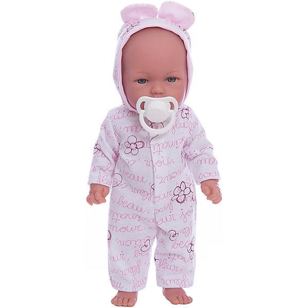 Кукла Оливия в пижамке, умеет стоять, серия soft touch, Vestida de AzulКуклы<br>Характеристики товара:<br><br>• возраст: от 3 лет;<br>• материал: винил, текстиль;<br>• в комплекте: кукла, пижама, соска;<br>• высота куклы: 30 см;<br>• размер упаковки: 34х14х8 см;<br>• вес упаковки: 460 гр.;<br>• страна производитель: Испания.<br><br>Кукла Оливия в пижамке Soft Touch Vestida de Azul — Маленький пупс большими глазками и пухлыми щечками. Оливия одета в пижамку с цветами и капюшоном. У куклы подвижные руки и ноги, она умеет самостоятельно стоять. Игра с куклой привьет девочке чувство ответственности, любви, заботы. <br><br>Куклу Оливию в пижамке Soft Touch Vestida de Azul можно приобрести в нашем интернет-магазине.<br>Ширина мм: 380; Глубина мм: 120; Высота мм: 240; Вес г: 650; Возраст от месяцев: 36; Возраст до месяцев: 2147483647; Пол: Женский; Возраст: Детский; SKU: 6844342;