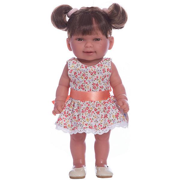 Кукла Кина брюнетка с хвостиками, умеет стоять, серия soft touch, Vestida de AzulКуклы<br>Характеристики товара:<br><br>• возраст: от 3 лет;<br>• материал: винил, текстиль;<br>• в комплекте: кукла, платье;<br>• высота куклы: 30 см;<br>• размер упаковки: 34х14х8 см;<br>• вес упаковки: 375 гр.;<br>• страна производитель: Испания.<br><br>Кукла Кина брюнетка с хвостиками Soft Touch Vestida de Azul — кукла-малышка с пухлыми щечками и большими выразительными глазками. Кина одета в полосатое платьице, а на голове повязана ленточка. Густые темные волосы завязаны в хвостик, они очень похожи на натуральные. Девочка сможет расчесывать их, укладывать, заплетать, придумывая кукле разнообразные прически.<br><br>Куклу Кину брюнетка с хвостиками Soft Touch Vestida de Azul можно приобрести в нашем интернет-магазине.<br><br>Ширина мм: 380<br>Глубина мм: 120<br>Высота мм: 240<br>Вес г: 650<br>Возраст от месяцев: 36<br>Возраст до месяцев: 2147483647<br>Пол: Женский<br>Возраст: Детский<br>SKU: 6844343