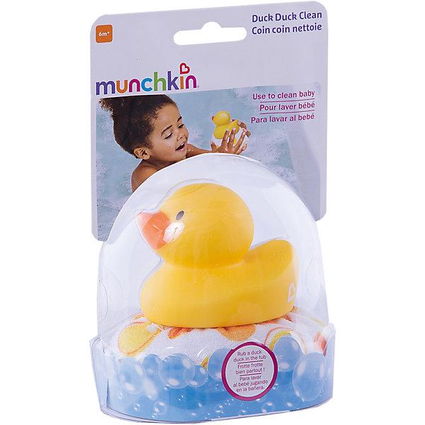 Мочалка Уточка, от 0 мес., Munchkin, желтыйТовары для купания<br>Munchkin мочалка для ванны Уточка;  Каждое купание превратится в веселую игру вместе с уточкой;Munchkin! Мочалка для ванны с уточкой создана специально для нежной кожи малыша. Мягкая ткань деликатно очищает и массирует, а яркая уточка развеселит и порадует кроху. Игрушка очень легкая, ее удобно держать в маленьких ручках. Изделие выполнено из высококачественных нетоксичных материалов. Подходит для детей с рождения.;  Внимание! Цвет данной модели не возможно выбрать заранее.<br><br>Ширина мм: 170<br>Глубина мм: 110<br>Высота мм: 80<br>Вес г: 150<br>Возраст от месяцев: 0<br>Возраст до месяцев: 60<br>Пол: Унисекс<br>Возраст: Детский<br>SKU: 6844828