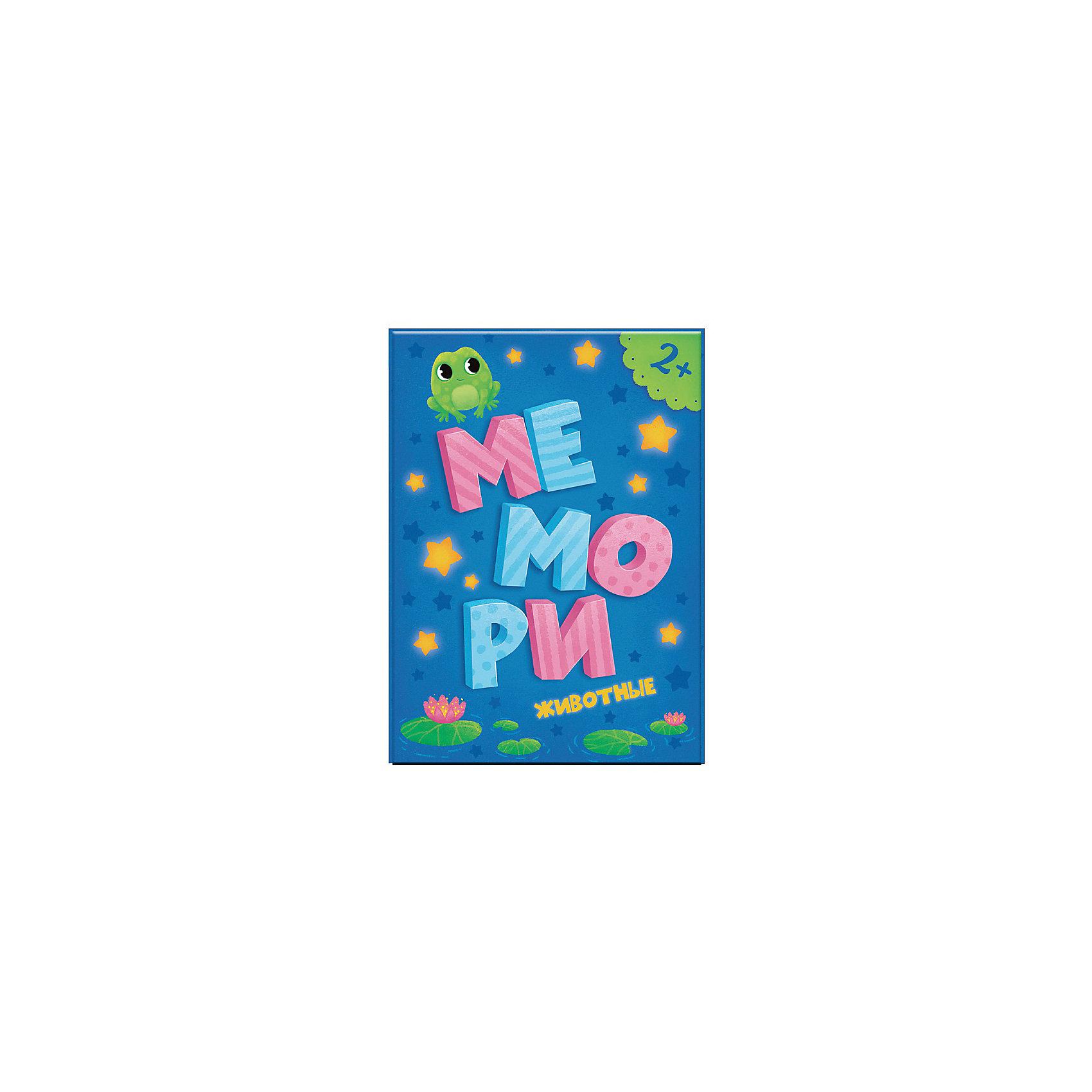 Мемори для малышей Животные, 31 карточкаИгры мемо<br>Характеристики:<br><br>• возраст: от 2 лет<br>• в наборе: 30 карточек с изображениями различных животных, 1 карточка для родителей<br>• издательство: ГеоДом<br>• иллюстрации: цветные<br>• упаковка: картонная коробка с европодвесом<br>• размер: 16,7х10,2х1,3 см.<br>• вес: 144 гр.<br>• ISBN: 4607177454160<br><br>«Мемори» — весёлый и интересный способ тренировать память и внимание. Ребёнок, отыскивая среди ярких и красивых карточек подходящую пару, развивает своё цветовое восприятие, логическое и ассоциативное мышление.<br><br>Мемори для малышей Животные, 31 карточка можно купить в нашем интернет-магазине.<br><br>Ширина мм: 100<br>Глубина мм: 140<br>Высота мм: 60<br>Вес г: 143<br>Возраст от месяцев: 24<br>Возраст до месяцев: 2147483647<br>Пол: Унисекс<br>Возраст: Детский<br>SKU: 6845935
