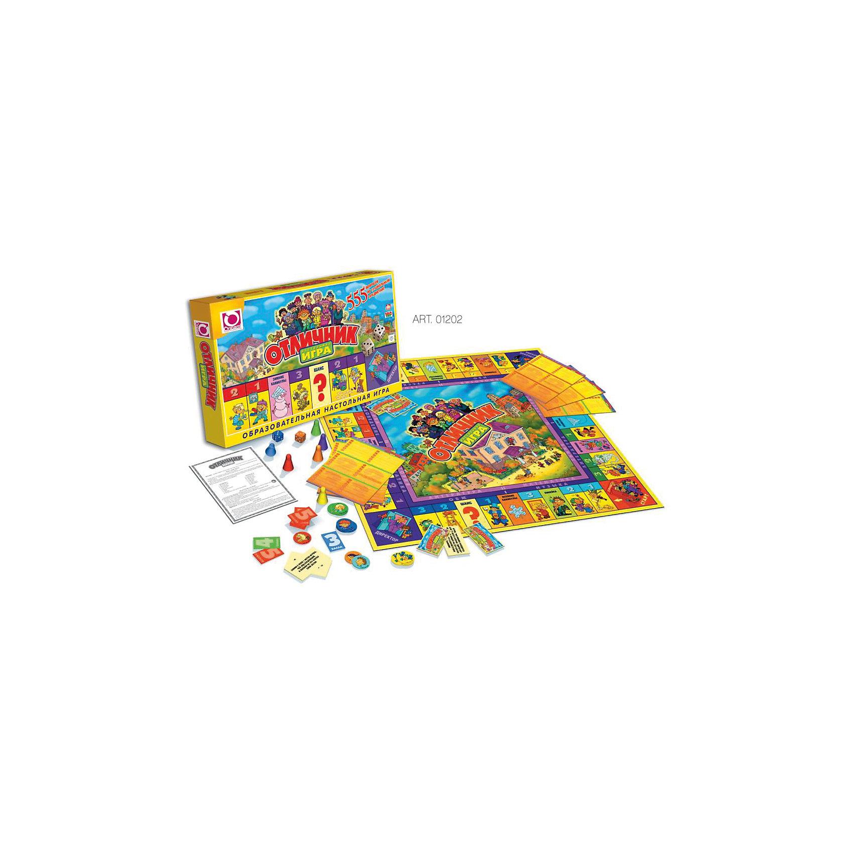 Настольная игра FunGame Отличник, OrigamiЭкономические настольные игры<br>Характеристики:<br><br>• возраст: от 6 лет<br>• комплектация: игровое поле, 24 филиала; 12 предприятий; 20 карточек «Шанс»; 30 карточек «Фортуна»; 26 карточек «Участков»; банкноты ( 1, 5, 10, 20, 50, 100, 500 франтов по 48 шт); , акции 48 шт; страховые полисы ( 12 зеленых, 12 синих, 12 оранжевых, 12 красных); 6 фишек игроков; 2 кубика; правила игры<br>• количество игроков: от 2 до 6 человек<br>• средняя продолжительность игры: 90 минут<br>• размер игрового поля: 48х48 см.<br>• размер банкноты: 10х5 см.<br>• материал: картон, пластик<br>• упаковка: картонная коробка<br>• размер упаковки: 25,5х39х4,4 см.<br>• вес: 562 гр.<br><br>Экономическая игра - отличная возможность научиться разбираться в мире бизнеса, завоёвывать доверие клиента своими личными качествами. Играя, ребёнок получает возможность пройти путь от менеджера до генерального директора компании.<br><br>Игра «Миллионер Элит» отличается от классической версии игры дополнительной комплектацией: впервые к традиционному набору – игровое поле, фишки, кубики, предприятия с филиалами, банкноты и различные карточки событий – добавились Акции и Страховые полисы на все случаи жизни. <br><br>Теперь пополнение банковского счета игрока зависит не только от удачной купли-продажи имущества, но и от непредсказуемого «поведения» акций на рынке ценных бумаг. Игра развивает логическое и экономическое мышление, обучает основам экономики, повышает общий интеллектуальный уровень.<br><br>Настольную игру FunGame Миллионер-элит, Origami (Оригами) можно купить в нашем интернет-магазине.<br><br>Ширина мм: 46<br>Глубина мм: 390<br>Высота мм: 255<br>Вес г: 550<br>Возраст от месяцев: 72<br>Возраст до месяцев: 2147483647<br>Пол: Унисекс<br>Возраст: Детский<br>SKU: 6845960