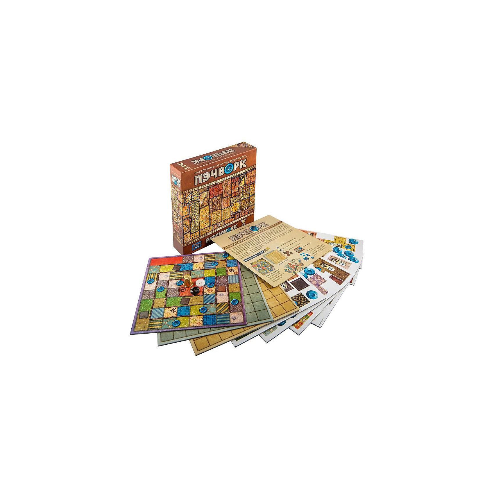 Настольная игра ПэчворкНастольные игры для всей семьи<br>Характеристики:<br><br>• возраст: от 6 лет<br>• комплектация: игровое поле, правила игры, брошюра «Викторина», карточки городов 56 шт., схема перелетов, жетоны «Мой город» 84 шт., жетоны-фанты (1 фант 20 шт., 2 фанта 20 шт., 3 фанта 13 шт., 5 фантов 13 шт., 10 фантов 30 шт.), фишки 4 шт., кубик 2 шт.<br>• размер игрового поля: 89х49 см.<br>• количество игроков: от 2 до 4 человек<br>• средняя продолжительность игры: 60 минут<br>• материал: картон, пластик<br>• упаковка: картонная коробка<br>• размер упаковки: 27,5х40х5,5 см.<br>• вес: 1,188 кг.<br><br>Игра «Здравствуй, Россия!» представляет собой занимательную стратегическую игру, которая познакомит ребенка с многонациональным народом России, с городами и поселками, реками и морями, с традициями, обычаями, историей, флорой и фауной нашей страны.<br><br>В процессе игры ребенок побывает в разных уголках нашей необъятной Родины. Попасть туда он сможет на поезде, корабле или самолете. В пути ребенок узнает много нового и интересного, а помогут ему в этом вопросы викторины.<br><br>Настольную игру FunGame ТК Здравствуй, Россия!, Origami (Оригами) можно купить в нашем интернет-магазине.<br><br>Ширина мм: 50<br>Глубина мм: 200<br>Высота мм: 200<br>Вес г: 700<br>Возраст от месяцев: 96<br>Возраст до месяцев: 2147483647<br>Пол: Унисекс<br>Возраст: Детский<br>SKU: 6845962