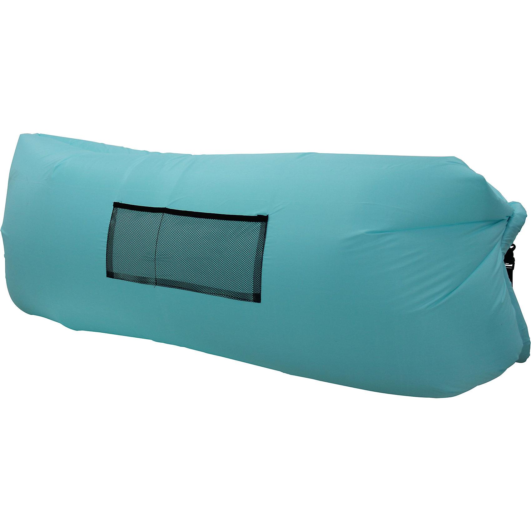Надувной лежак, бирюзовый
