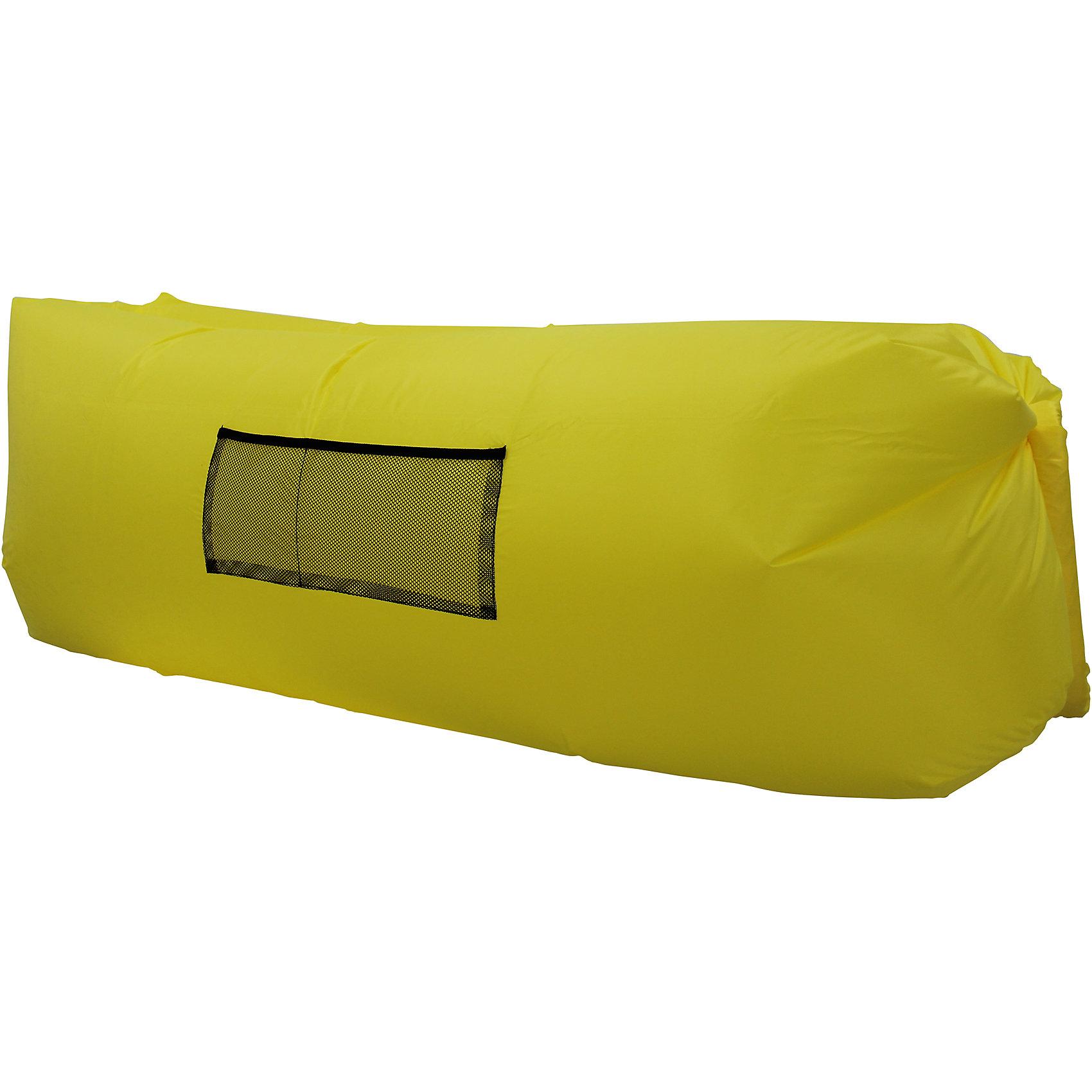 Надувной лежак, желтый