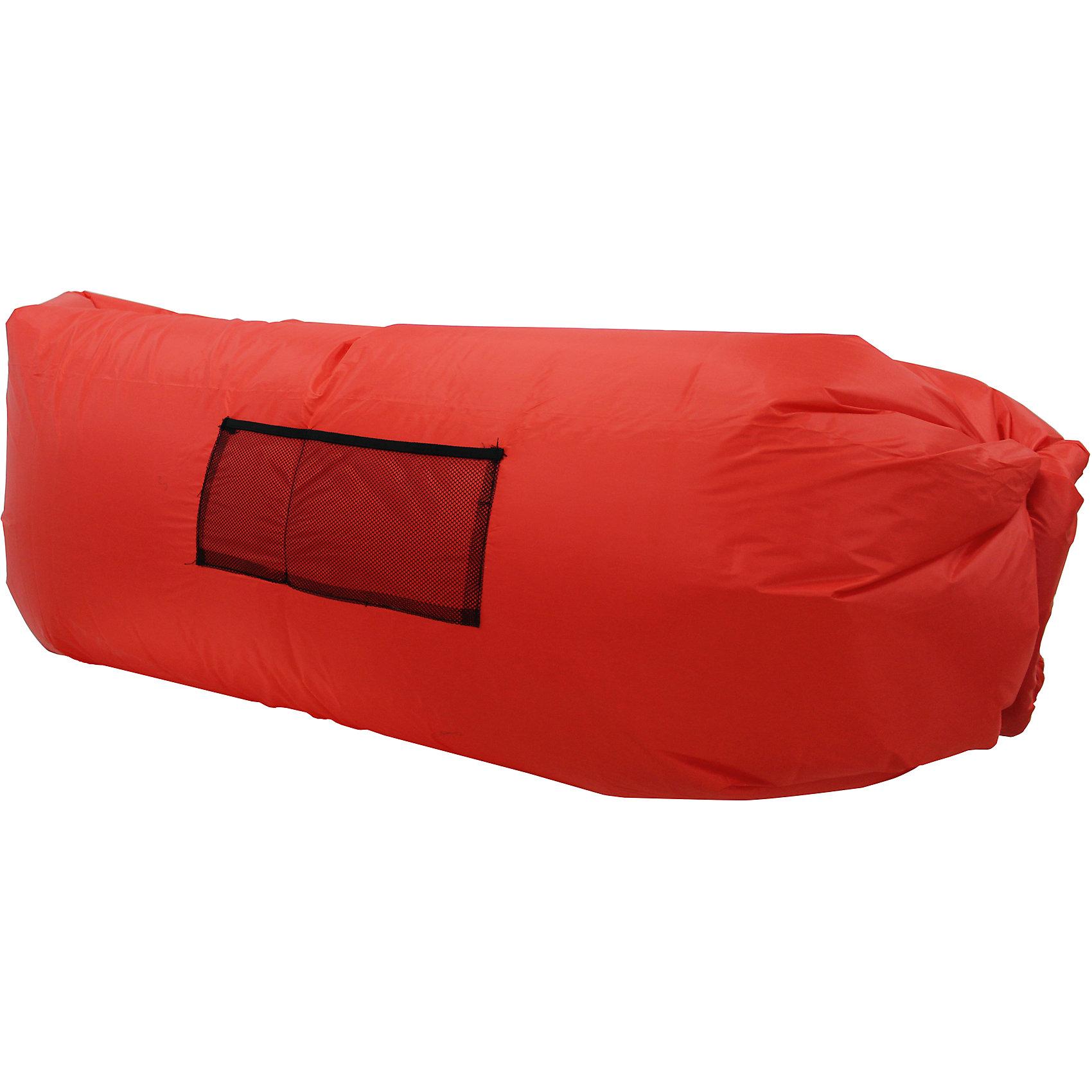 Надувной лежак, красный