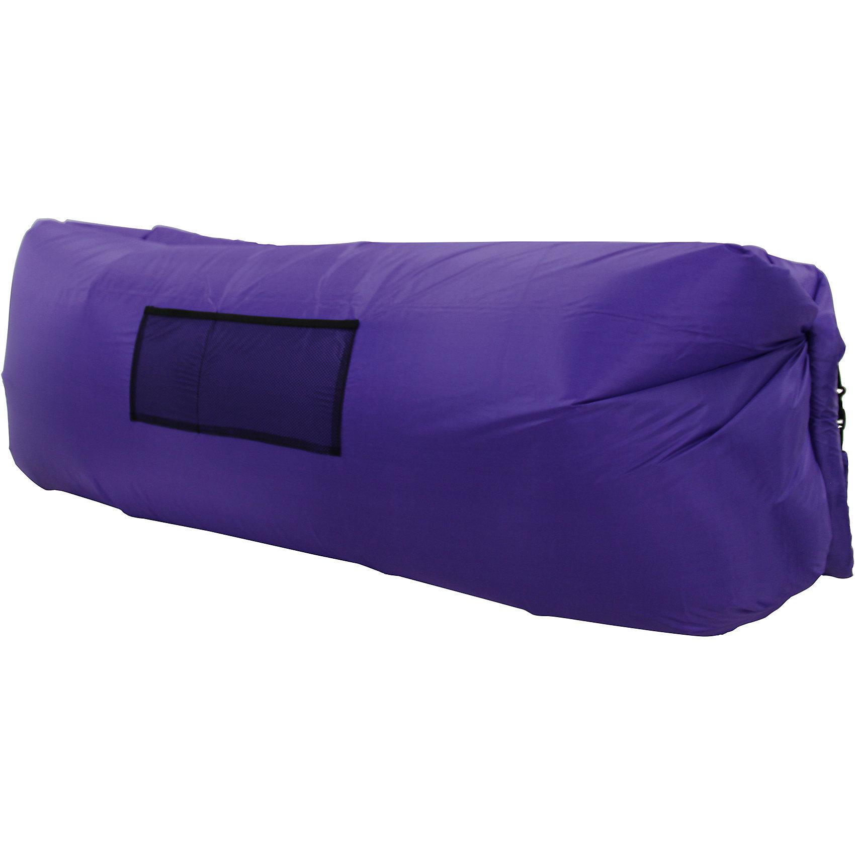 Надувной лежак, фиолетовый