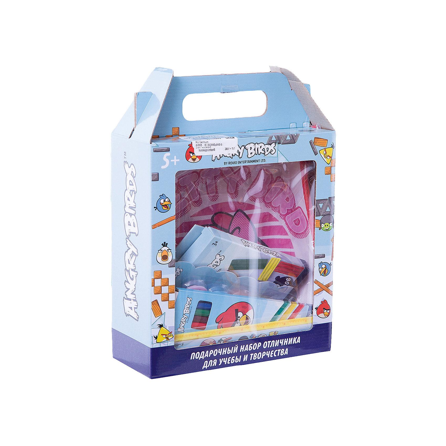 Centrum Подарочный набор отличника для учебы и творчества Angry BirdsШкольные аксессуары<br>Подарочный набор отличника Angry Birds для учебы и творчества. Состав набора: сумка, ластик, линейка, набор магнитов, пластилин, клей, точилка, карандаши цветные<br><br>Ширина мм: 90<br>Глубина мм: 215<br>Высота мм: 285<br>Вес г: 9999<br>Возраст от месяцев: 72<br>Возраст до месяцев: 2147483647<br>Пол: Унисекс<br>Возраст: Детский<br>SKU: 6846685