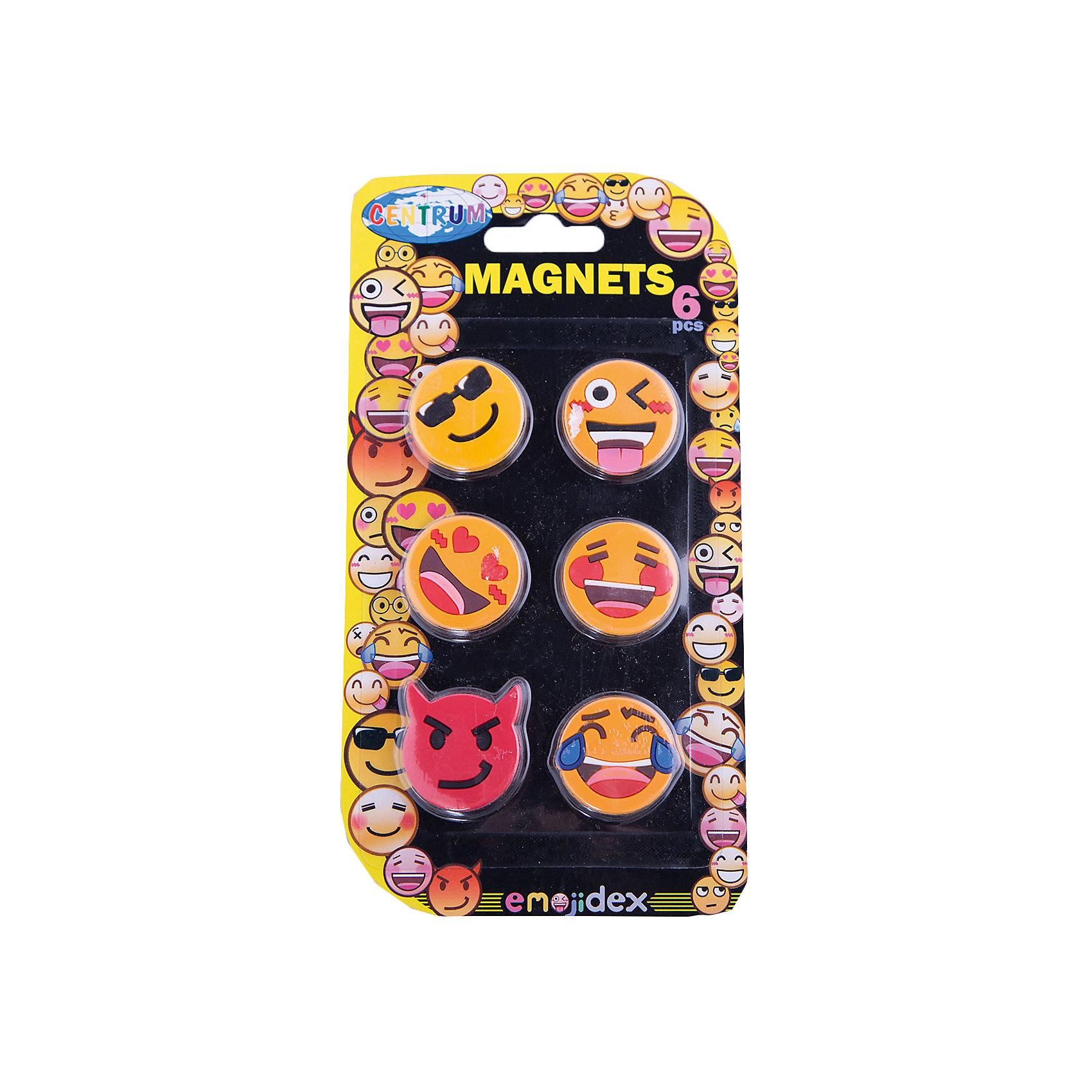 Centrum Набор магнитов 6 штук СмайлыШкольные аксессуары<br>Набор магнитов Смайлы, 6 штук в наборе, прорезиненные, диаметр 30 мм.<br><br>Ширина мм: 5<br>Глубина мм: 100<br>Высота мм: 190<br>Вес г: 37<br>Возраст от месяцев: 36<br>Возраст до месяцев: 2147483647<br>Пол: Унисекс<br>Возраст: Детский<br>SKU: 6846700