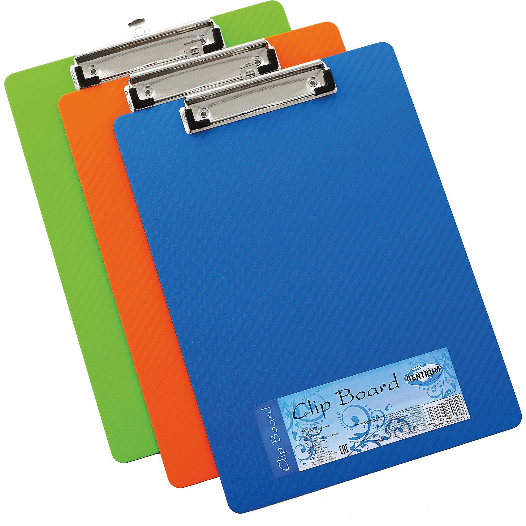 Centrum Папка-планшет A4, с зажимом Carbon, ассортиПапки для тетрадей<br>Папка-планшет, под формат A4. Металлический зажим надежно фиксирует листы. Толщина пластика 3 мм. Серия Carbon, цвета ассорти<br><br>Ширина мм: 15<br>Глубина мм: 225<br>Высота мм: 315<br>Вес г: 170<br>Возраст от месяцев: 72<br>Возраст до месяцев: 2147483647<br>Пол: Унисекс<br>Возраст: Детский<br>SKU: 6846711