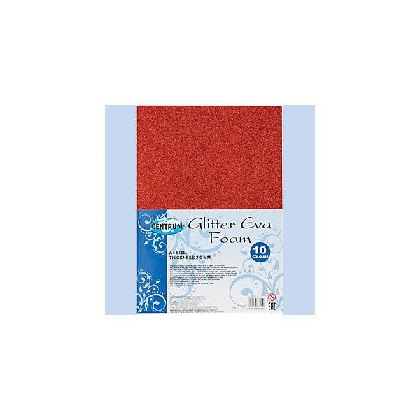 Centrum Набор декоративной бумаги EVA GlITTER, самоклеющаяся, для детского творчества (аппликации), А4, 10 цветовНаборы для раскрашивания<br>Набор декоративной бумаги EVA GlITTER, самоклеющаяся, для детского творчества (аппликации), толщина 2,0 мм, формат А4, 10 цветов<br><br>Ширина мм: 22<br>Глубина мм: 215<br>Высота мм: 300<br>Вес г: 240<br>Возраст от месяцев: 72<br>Возраст до месяцев: 2147483647<br>Пол: Унисекс<br>Возраст: Детский<br>SKU: 6846761