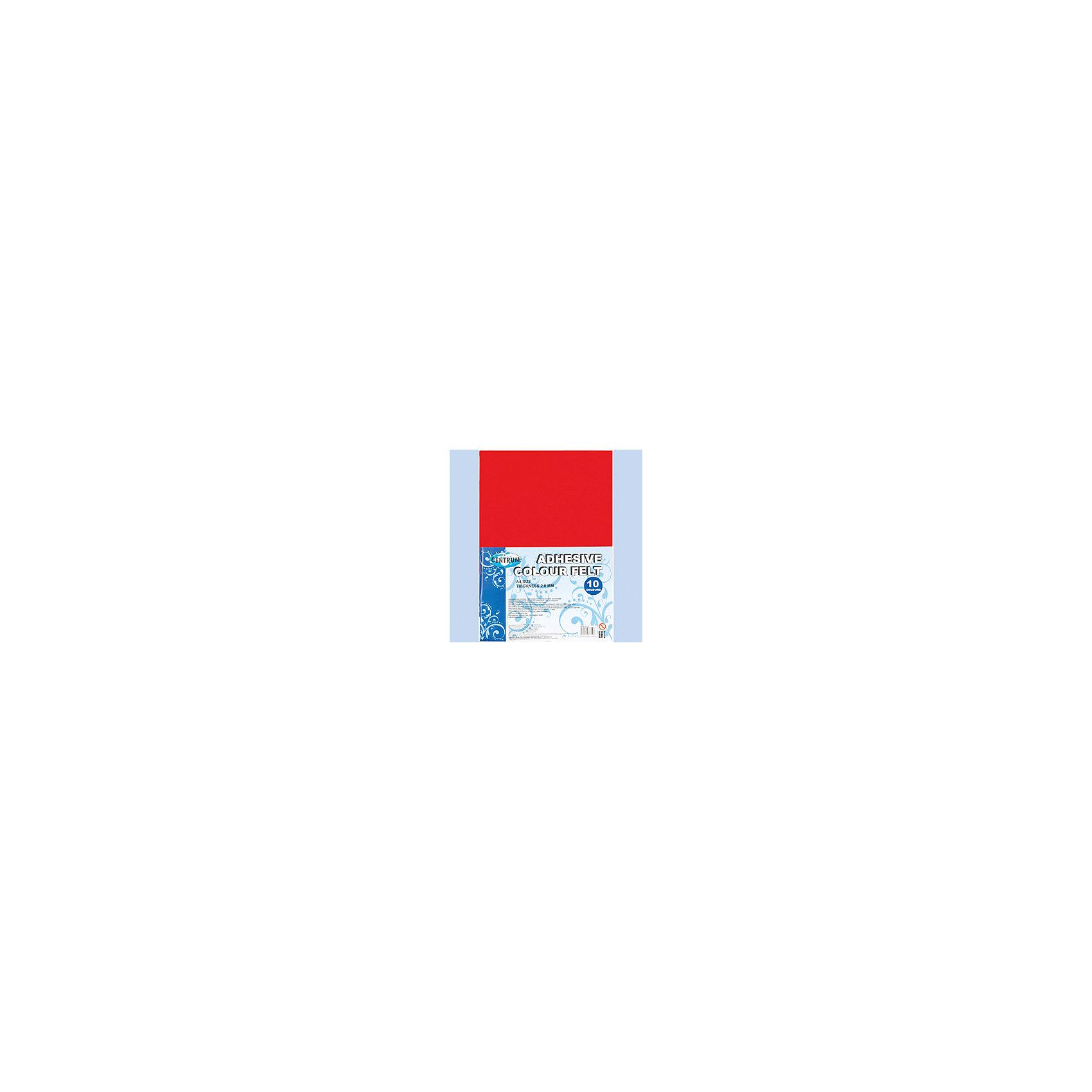 Centrum Набор декоративного цветного фетра  на клеевой основе А4Рукоделие<br>Набор декоративного цветного фетра  на клеевой основе А4, для детского творчества (аппликации), толщина 2,0 мм, формат А4, 10 цветов<br><br>Ширина мм: 27<br>Глубина мм: 207<br>Высота мм: 298<br>Вес г: 208<br>Возраст от месяцев: 72<br>Возраст до месяцев: 2147483647<br>Пол: Унисекс<br>Возраст: Детский<br>SKU: 6846765
