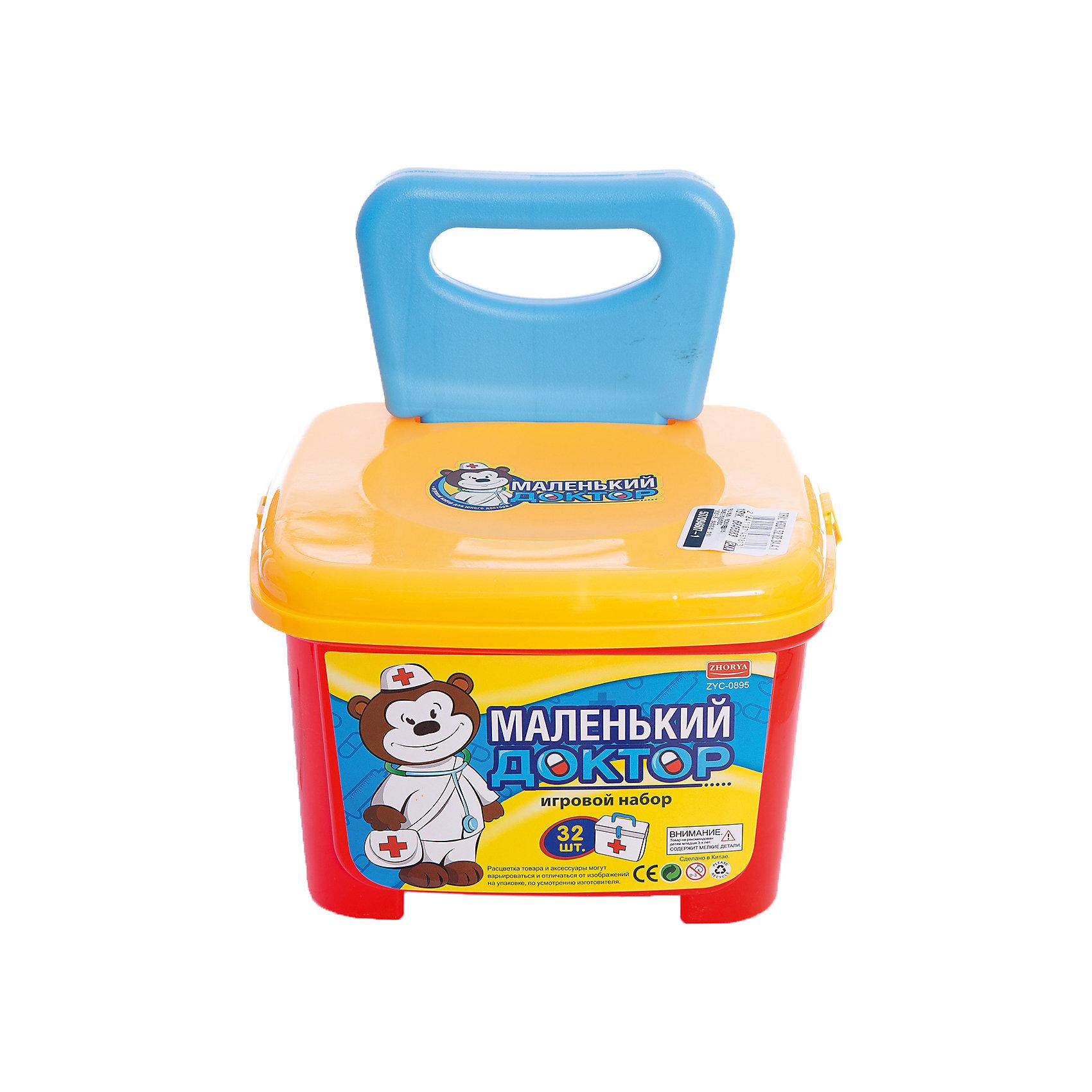 Игровой набор Shantou Gepai Маленький Доктор, чемодан-стульчикНаборы доктора и ветеринара<br>Характеристики:<br><br>• в комплекте: чемодан-стульчик, аксессуары;<br>• материал: пластик;<br>• возраст: от 3-х лет;<br>• размер упаковки: 20х25х28 см;<br>• вес: 929 грамм;<br>• страна: Китай.<br><br>Если любимая игрушка заболела, ее нужно срочно вылечить. На помощь придет набор Маленький доктор.<br><br>В комплект входят все необходимые для лечения и осмотра аксессуары.<br><br>Универсальный чемодан-стульчик очень удобен для юного доктора. В него можно сложить все инструменты, а также воспользоваться им, чтобы удобно расположиться при осмотре больного.<br><br>Все элементы изготовлены из пластика, безопасного для детей.<br><br>Игровой набор Маленький Доктор, чемодан-стульчик, Shantou Gepai (Шанту Гепай) можно купить в нашем интернет-магазине.<br><br>Ширина мм: 280<br>Глубина мм: 250<br>Высота мм: 200<br>Вес г: 929<br>Возраст от месяцев: 36<br>Возраст до месяцев: 2147483647<br>Пол: Женский<br>Возраст: Детский<br>SKU: 6846883