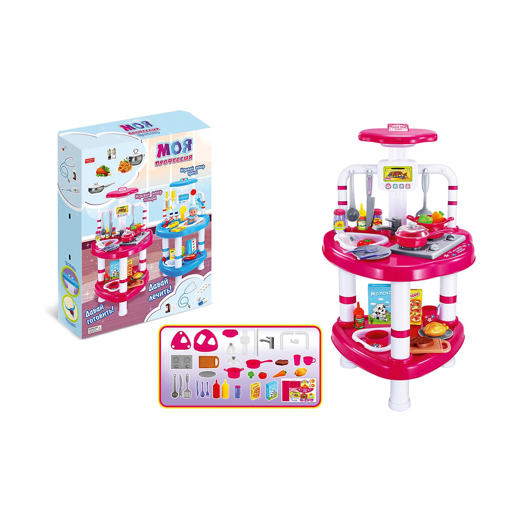 Игровой набор Shantou Gepai Повар, со светомСюжетно-ролевые игры<br>Характеристики:<br><br>• в комплекте: столик, посуда, продукты, кухонные принадлежности;<br>• материал: пластик;<br>• световые эффекты;<br>• возраст: от 3-х лет;<br>• размер упаковки: 53х10х42 см;<br>• вес:  1,91 кг;<br>• страна: Китай.<br><br>Набор от Shantou Gepai порадует каждого кулинара. Юный повар научится готовить вкусные блюда, чтобы потом помогать маме по дому. <br><br>В комплект входят все необходимые продукты и посуда. За столиком ребенок сможет удобно расположиться, чтобы начать процесс приготовления. <br><br>Набор отлично подходит для сюжетно-ролевых игр. Встроенные световые эффекты сделают игру еще интереснее.<br><br>Игровой набор Повар, со светом, Shantou Gepai (Шанту Гепай) можно купить в нашем интернет-магазине.<br><br>Ширина мм: 420<br>Глубина мм: 100<br>Высота мм: 530<br>Вес г: 1910<br>Возраст от месяцев: 36<br>Возраст до месяцев: 2147483647<br>Пол: Женский<br>Возраст: Детский<br>SKU: 6846885