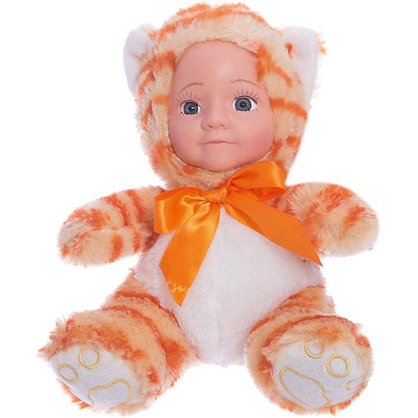 Мягкая кукла Fluffy Family Мой котенокКуклы<br>Характеристики:<br><br>• высота куклы: 20 см;<br>• материал: текстиль, пластик;<br>• возраст: от 3-х лет;<br>• размер упаковки: 20х13х16 см;<br>• вес: 135 грамм.<br><br>Мой котёнок - очаровательная кукла от Fluffy Family. Она выполнена в виде маленького пупса, одетого в костюм рыжего котика с бантом. <br><br>Реснички и брови котенка тщательно прорисованы. Выразительный взгляд котенка очарует  своей красотой. С этой игрушкой ребенку будет приятно играть или даже спать.<br><br>Мягкую куклу Мой котенок, Fluffy Family (Флаффи Фэмили) можно купить в нашем интернет-магазине.<br>Ширина мм: 160; Глубина мм: 130; Высота мм: 200; Вес г: 135; Возраст от месяцев: 36; Возраст до месяцев: 2147483647; Пол: Женский; Возраст: Детский; SKU: 6846886;
