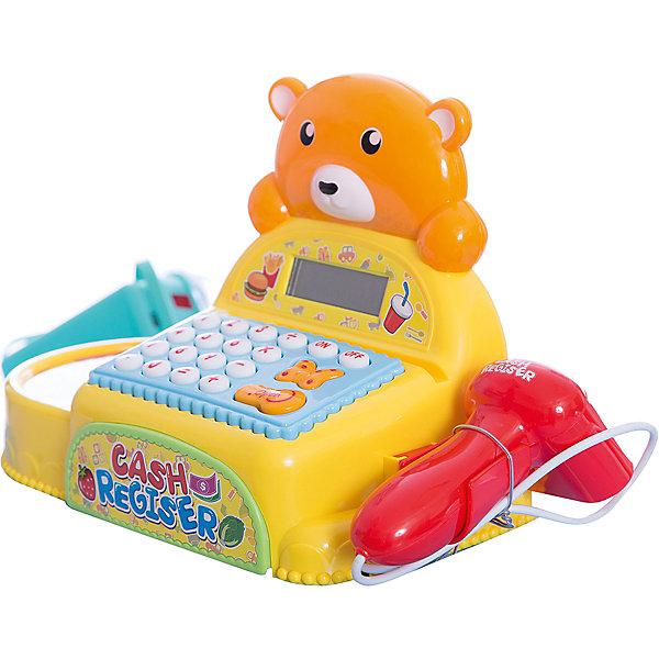 Касса Shantou Gepai Медвежонок с аксессуарами, со светом и звукомДетский супермаркет<br>Характеристики:<br><br>• встроенный калькулятор;<br>• световые и звуковые эффекты;<br>• в комплекте: касса, продукты;<br>• возраст: от 3-х лет;<br>• материал: пластик;<br>• батарейки: АА - 3 шт. (не входят в комплект);<br>• размер упаковки: 24х14х37 см;<br>• вес: 1,12 кг;<br>• страна: Китай. <br><br>Касса с маленьким медвежонком позволит ребенку почувствовать себя настоящим кассиром. В набор входит касса со сканером и набор продуктов. Юный продавец сможет разложить товары так, как ему удобно. <br><br>Касса оснащена световыми и звуковыми эффектами. При работе со сканером и считывающим устройством игрушка воспроизводит соответствующие реалистичные звуки. Встроенный калькулятор поможет сосчитать стоимость товаров.<br><br>Для работы необходимы три батарейки АА (не входят в комплект).<br><br>Кассу Медвежонок с аксессуарами, со светом и звуком, Shantou Gepai (Шанту Гепай) можно купить в нашем интернет-магазине.<br>Ширина мм: 370; Глубина мм: 140; Высота мм: 240; Вес г: 1117; Возраст от месяцев: 36; Возраст до месяцев: 2147483647; Пол: Унисекс; Возраст: Детский; SKU: 6846888;