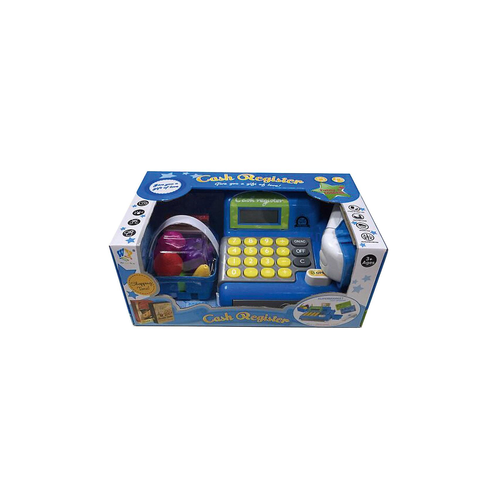 Касса Shantou Gepai с набором продуктов и аксессуарами, синяя, со свукомДетский супермаркет<br>Характеристики:<br><br>• в комплекте: касса, корзина с продуктами;<br>• звуковые эффекты;<br>• материал: пластик;<br>• возраст: от 3-х лет;<br>• размер упаковки: 13,5х19х30 см;<br>• вес: 917 грамм;<br>• страна: Китай.<br><br>Игровая касса отлично подойдет для сюжетно-ролевых игр.  С ней ребенок сможет почувствовать себя настоящим продавцом, ведь в комплекте есть всё самое необходимое.<br><br>В комплект входит корзина с продуктами. Ребёнок сможет разложить товар, выбрать необходимое, а затем посчитать стоимость покупок на кассе. Звуковые эффекты придадут игре реалистичности.<br><br>Для работы необходимы батарейки (не входят в комплект).<br><br>Кассу с набором продуктов и аксессуарами, синяя, со звуком, Shantou Gepai (Шанту Гепай) можно купить в нашем интернет-магазине.<br><br>Ширина мм: 300<br>Глубина мм: 190<br>Высота мм: 135<br>Вес г: 917<br>Возраст от месяцев: 36<br>Возраст до месяцев: 2147483647<br>Пол: Унисекс<br>Возраст: Детский<br>SKU: 6846889