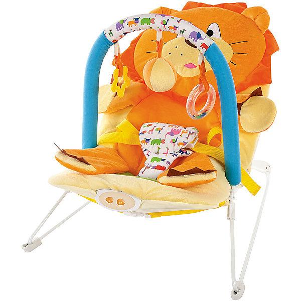 Кресло-качалка Жирафики Львёнок с вибрацией и музыкойДетские качели для дома<br>Характеристики:<br><br>• дуга с тремя игрушками;<br>• анатомическое строение кресла;<br>• режим вибрации;<br>• встроенная музыка;<br>• трехточечные ремни;<br>• возраст: с рождения;<br>• материал: текстиль, пластик, металл;<br>• размер упаковки: 39х8х52 см;<br>• вес: 2,67 кг;<br>• страна бренда: Россия.<br><br>Кресло-качалка - хороший помощник для родителей. Оно развлечет и успокоит малыша, пока мама занимается своими делами. <br><br>Кресло имеет дугу с тремя развивающими игрушками, которые малыш с интересом будет рассматривать и хватать ручками.<br><br>Встроенная музыка и режим вибрации помогут успокоить малыша, если он расстроен. Для безопасности ребенка предусмотрены трехточечные ремни.<br><br>Кресло подходит для детей с рождения. Оно имеет анатомическую форму, удобную для положения полулёжа.<br><br>Кресло-качалку Львёнок с 3-мя игрушками, вибрацией и музыкой, Жирафики можно купить в нашем интернет-магазине.<br>Ширина мм: 520; Глубина мм: 80; Высота мм: 390; Вес г: 2667; Возраст от месяцев: 3; Возраст до месяцев: 2147483647; Пол: Унисекс; Возраст: Детский; SKU: 6846899;