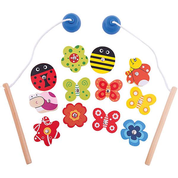 Игровой набор рыбалка Mapacha Ловим бабочекСпортивные настольные игры<br>Характеристики:<br><br>• в комплекте: 12 бабочек и цветочков, 2 удочки;<br>• возраст: от 12 месяцев;<br>• материал: дерево, металл, магнит;<br>• размер упаковки: 16,5х2х16 см;<br>• вес: 98 грамм;<br>• страна: Китай.<br><br>Ловим бабочек - увлекательная развивающая игрушка для малышей. В комплект входят 12 ярких бабочек и цветочков с металлической клепкой, 2 удочки с магнитами.<br><br>Цель игры - поймать как можно больше бабочек или цветочков на свою удочку. Игра способствует развитию мелкой моторики, координации движений и внимательности.<br><br>Развивающую игрушку Ловим бабочек, Mapacha (Мапача) можно купить в нашем интернет-магазине.<br><br>Ширина мм: 160<br>Глубина мм: 20<br>Высота мм: 165<br>Вес г: 98<br>Возраст от месяцев: 36<br>Возраст до месяцев: 2147483647<br>Пол: Унисекс<br>Возраст: Детский<br>SKU: 6846904