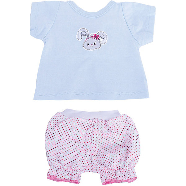 Одежда для куклы Mary Poppins Зайка, футболка и шортыОдежда для кукол<br>Характеристики:<br><br>• в комплекте: футболка, шорты;<br>• возраст: от 3-х лет;<br>• подходит для кукол высотой 38-43 см;<br>• материал: текстиль;<br>• размер упаковки: 26х1х22 см;<br>• вес: 36 грамм;<br>• страна бренда: Россия.<br><br>Футболка и шорты Зайка - восхитительный наряд для самых модных кукол. Изделия выполнены из мягкого материала, приятного на ощупь. Подходит для стирки в стиральной машине.<br><br>В комплект входит вешалка, на которую девочка сможет бережно повесить одежду куклу.<br><br>Походит для кукол высотой 38-43 сантиметров.<br><br>Футболку и шорты для куклы 38-43 см Зайка, Mary Poppins (Мэри Поппинс) можно купить в нашем интернет-магазине.<br><br>Ширина мм: 220<br>Глубина мм: 10<br>Высота мм: 260<br>Вес г: 36<br>Возраст от месяцев: 36<br>Возраст до месяцев: 2147483647<br>Пол: Женский<br>Возраст: Детский<br>SKU: 6846909