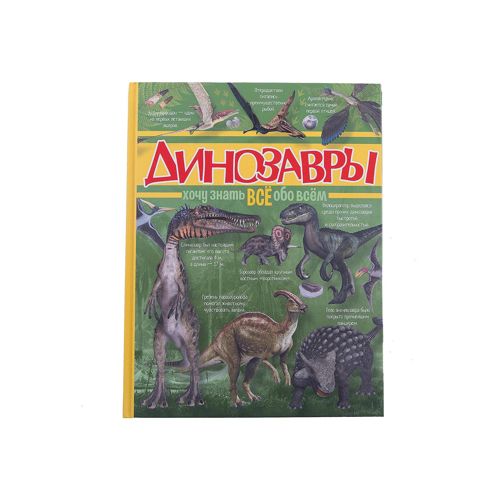 Энциклопедия ДинозаврыЭнциклопедии про динозавров<br>Вообрази, много лет назад по нашей планете ходили необычные животные — сегодня таких не увидишь, которые назывались динозаврами. Потом что-то вдруг произошло, и они вымерли. Эта книга в доступной форме поделится с тобой открытиями и гипотезами относительно образа жизни и исчезновения динозавров. Здесь представлены различные виды этих древних ящеров: наземных, водоплавающих и даже летающих. Уверены, что именно с нашей книгой ты узнаешь всё самое интересное о мире динозавров, ведь на страницах издания много наглядных иллюстраций, часто с подробными пояснениями.<br>Хочешь быстро узнавать всё обо всём? Тогда не мешкай: скорее усаживайся за чтение, чтобы получить не только новые знания, но и огромное удовольствие от увлекательного путешествия в давно исчезнувший мир динозавров.<br><br>Ширина мм: 255<br>Глубина мм: 197<br>Высота мм: 160<br>Вес г: 591<br>Возраст от месяцев: 84<br>Возраст до месяцев: 2147483647<br>Пол: Унисекс<br>Возраст: Детский<br>SKU: 6848357