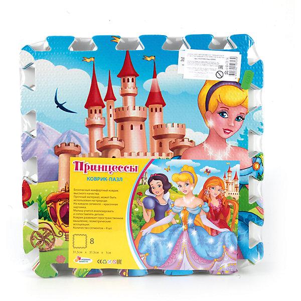 Коврик-пазл Принцессы 8 сегментов, Играем ВместеКоврики-пазлы<br>Характеристики товара:<br><br>• возраст: от 1 года;<br>• материал: ПВХ;<br>• в комплекте: 8 деталей;<br>• размер коврика: 126х63 см;<br>• размер одного сегмента: 31,5х31,5 см;<br>• размер упаковки: 31х31х8 см;<br>• вес упаковки: 530 гр.;<br>• страна производитель: Китай.<br><br>Коврик-пазл «Принцессы» Играем Вместе состоит из 8 больших сегментов, из которых собирается большой коврик с ярким изображением. Сегменты крупные и удобные для детский ручек. Все они соединяются между собой специальными замочками, благодаря которым собранный коврик хорошо держится. Готовый коврик подойдет для игр и занятий.<br><br>Коврик выполнен из особого полимерного материала, отличающегося хорошей плотностью и гибкостью, износостойкостью, устойчивого к перепадам температур. Материал имеет мягкую и приятную структуру.<br><br>Коврик-пазл «Принцессы» Играем Вместе можно приобрести в нашем интернет-магазине.<br>Ширина мм: 310; Глубина мм: 310; Высота мм: 80; Вес г: 530; Возраст от месяцев: 12; Возраст до месяцев: 60; Пол: Унисекс; Возраст: Детский; SKU: 6848811;