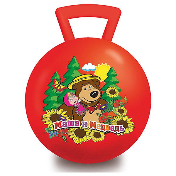 Мяч Маша и Медведь, 55 см, с ручкой, Играем ВместеМячи детские<br>Характеристики товара:<br><br>• возраст: от 3 лет;<br>• материал: резина;<br>• диаметр мяча: 55 см;<br>• размер упаковки: 24х18х8 см;<br>• вес упаковки: 710 гр.;<br>• страна производитель: Китай.<br><br>Мяч с ручкой «Маша и Медведь» Играем Вместе — отличный тренажер для детей от 3 лет. Сидя на нем и держась за ручки, малыш тренирует координацию движений, тренирует мышцы, формирует осанку. Мяч подойдет для использования как дома, так и на улице. На мяче изображены любимые персонажи мультфильма.<br><br>Мяч с ручкой «Маша и Медведь» Играем Вместе можно приобрести в нашем интернет-магазине.<br>Ширина мм: 240; Глубина мм: 80; Высота мм: 180; Вес г: 710; Возраст от месяцев: 36; Возраст до месяцев: 60; Пол: Унисекс; Возраст: Детский; SKU: 6848814;