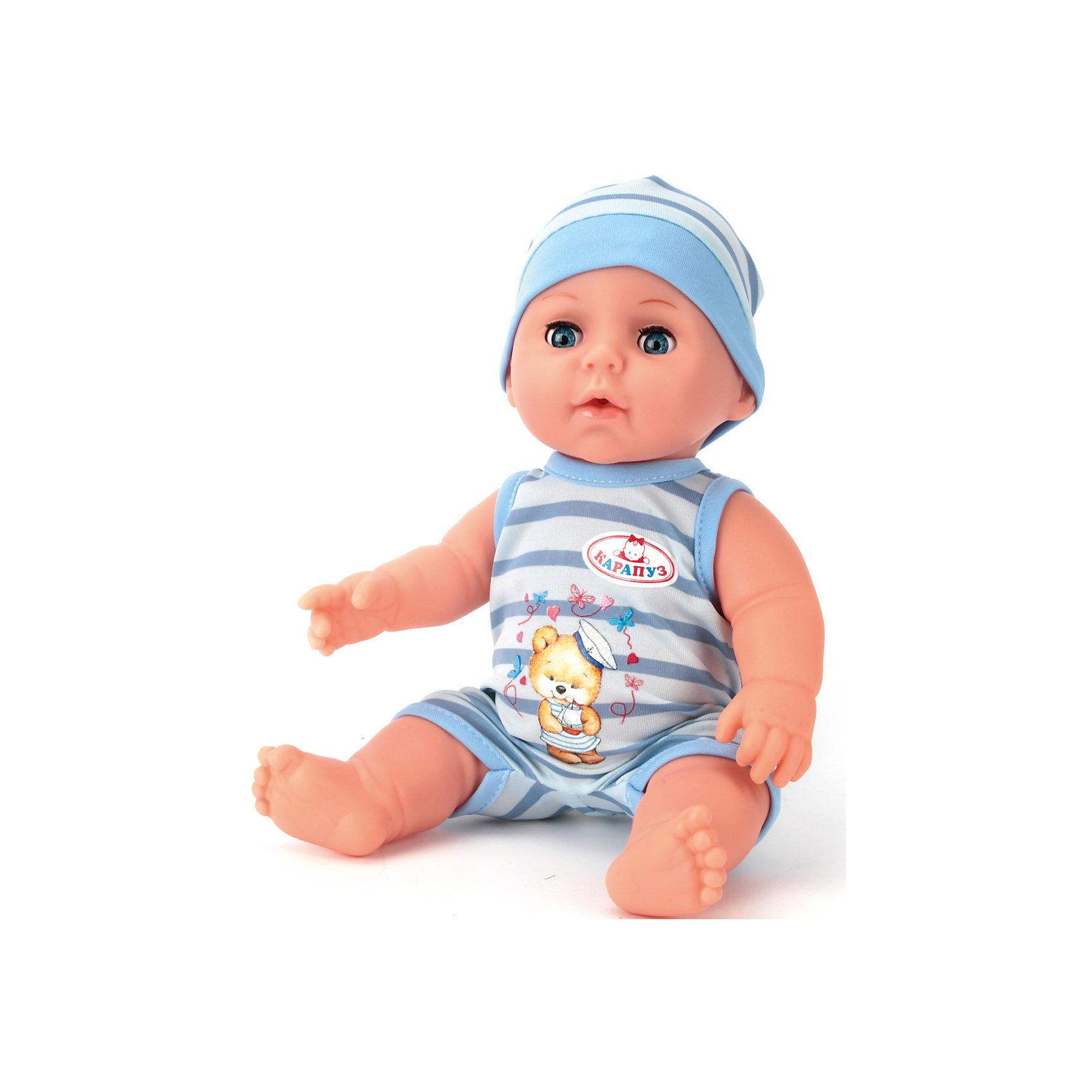 Пупс, 30 см, 3 функции, пьет и писает, КарапузИнтерактивные куклы<br><br><br>Ширина мм: 300<br>Глубина мм: 150<br>Высота мм: 270<br>Вес г: 800<br>Возраст от месяцев: 36<br>Возраст до месяцев: 60<br>Пол: Унисекс<br>Возраст: Детский<br>SKU: 6848820