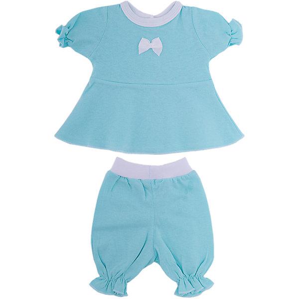 Комплект одежды для куклы 40-42см, платье и бриджи, КарапузОдежда для кукол<br>Характеристики товара:<br><br>• возраст: от 3 лет;<br>• материал: трикотаж;<br>• в комплекте: платье, бриджи;<br>• размер упаковки: 37х28х3 см;<br>• вес упаковки: 50 гр.;<br>• страна производитель: Китай.<br><br>Комплект одежды «Платье и бриджи» Карапуз подойдет для пупса 40-42 см. Комплект включает в себя платье и бриджи. Выполнен из мягкого качественного трикотажа.<br><br>Комплект одежды «Платье и бриджи» Карапуз можно приобрести в нашем интернет-магазине.<br><br>Ширина мм: 280<br>Глубина мм: 30<br>Высота мм: 370<br>Вес г: 50<br>Возраст от месяцев: 36<br>Возраст до месяцев: 60<br>Пол: Унисекс<br>Возраст: Детский<br>SKU: 6848822