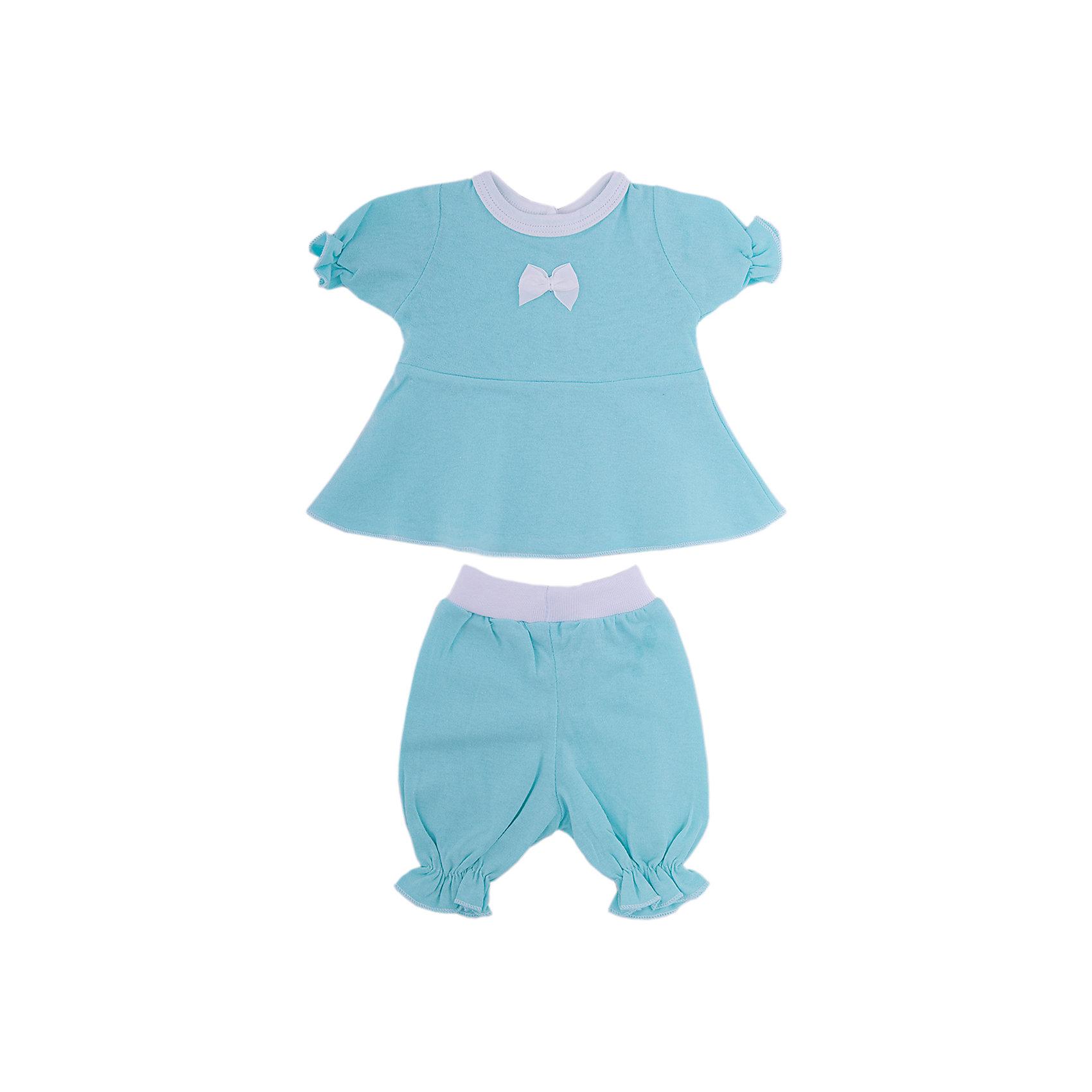 Комплект одежды для куклы 40-42см, платье и бриджи, КарапузКукольная одежда и аксессуары<br><br><br>Ширина мм: 280<br>Глубина мм: 30<br>Высота мм: 370<br>Вес г: 50<br>Возраст от месяцев: 36<br>Возраст до месяцев: 60<br>Пол: Унисекс<br>Возраст: Детский<br>SKU: 6848822