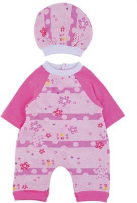 КАРАПУЗ Комплект одежды для куклы 40-42см, комбинезон с шапочкой, Карапуз
