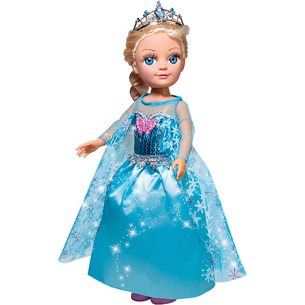 Кукла, 38 см, озвученная, 100 фраз, КарапузКуклы<br>Характеристики товара:<br><br>• возраст: от 3 лет;<br>• материал: пластик, текстиль;<br>• в комплекте: кукла, аксессуары;<br>• тип батареек: 3 батарейки LR41;<br>• наличие батареек: входят в комплект;<br>• высота куклы: 38 см;<br>• размер упаковки: 41х18х9 см;<br>• вес упаковки: 580 гр.;<br>• страна производитель: Китай.<br><br>Кукла Карапуз 38 см озвученная — очаровательная кукла со светлыми длинными волосами и голубыми глазами. Она одета в голубое бальное платье, голову украшает сверкающая диадема. Кукла умеет произносит 100 фраз, петь песенки, читать стихотворения, загадывать загадки. У куклы подвижные ручки и ножки. Выполнена из качественных безопасных материалов.<br><br>Куклу Карапуз 38 см озвученная можно приобрести в нашем интернет-магазине.<br>Ширина мм: 180; Глубина мм: 90; Высота мм: 410; Вес г: 580; Возраст от месяцев: 36; Возраст до месяцев: 60; Пол: Унисекс; Возраст: Детский; SKU: 6848824;