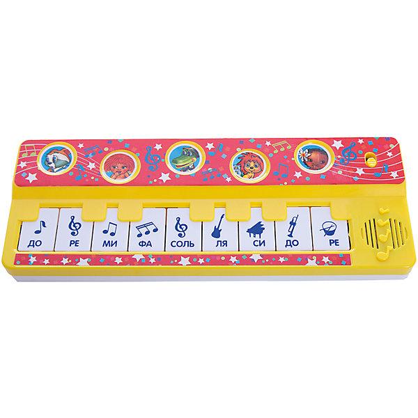 Пианино с песнями, В. Шаинского, УмкаДетские музыкальные инструменты<br>Характеристики товара:<br><br>• возраст: от 3 лет;<br>• материал: пластик;<br>• тип батареек: 3 батарейки АА;<br>• наличие батареек: входят в комплект;<br>• размер упаковки: 24х9х3 см;<br>• вес упаковки: 160 гр.;<br>• страна производитель: Россия.<br><br>Пианино с песнями В. Шаинского Умка воспроизводит 7 песенок из мультфильмов. Игрушка способствует развитию музыкального слуха, цветового восприятия, тактильных ощущений, воображения. Выполнена из качественного безопасного пластика.<br><br>Пианино с песнями В. Шаинского Умка можно приобрести в нашем интернет-магазине.<br><br>Ширина мм: 240<br>Глубина мм: 30<br>Высота мм: 90<br>Вес г: 160<br>Возраст от месяцев: 36<br>Возраст до месяцев: 60<br>Пол: Унисекс<br>Возраст: Детский<br>SKU: 6848835