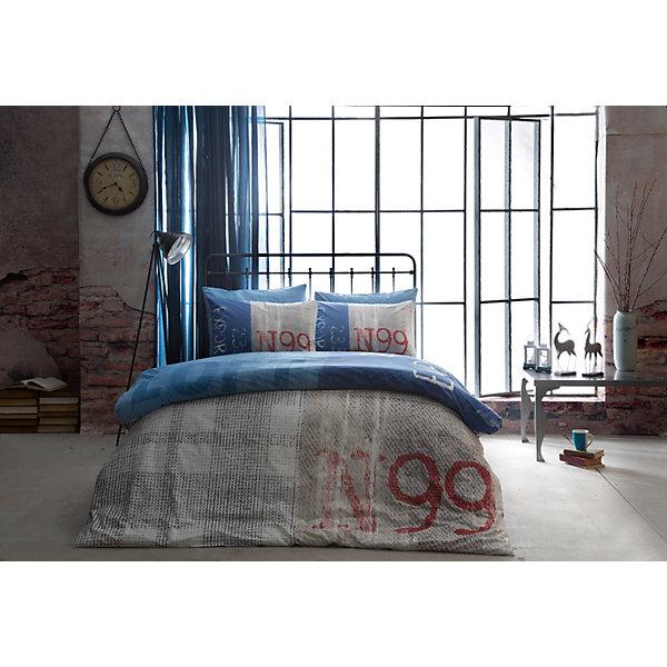 Постельное белье 1,5 сп. Loft, Ranforce, TAC, синийВзрослое постельное бельё<br>Характеристики товара: <br><br>• комплектация: пододеяльник (160х220см), наволочка (50х70см), простынь (180х260см)<br>• общий размер: 1,5-спальный;<br>• материал: ранфорс (100% хлопок);<br>• цвет: синий;<br>• страна бренда: Турция;<br>• страна производитель: Турция.<br><br>Это постельное бельё от турецкого бренда TAC (ТАЧ) отлично впишется в интерьер. Несмотря на плотность ткани, она состоит из мельчайших волокон, что придаёт мягкость и воздушность изделию. Все материалы, которые входят в состав этого комплекта, гипоаллергенны и не вызывают неприятных ощущений.<br><br>Постельное бельё не боится воды, так как пропускает через себя около 20% влаги и выводит наружу, поэтому её очень легко сушить. Такие материалы не электризуются, а наоборот способствуют улучшению сна и хорошо пропускают воздух. <br><br>Такой комплект очень устойчив к частым стиркам, его рекомендуется стирать обычным порошком. Ткань отличается особой износоустойчивостью и прочностью.<br><br>Постельное белье Loft (Лофт) можно купить в нашем интернет-магазине.<br><br>Ширина мм: 270<br>Глубина мм: 70<br>Высота мм: 390<br>Вес г: 2200<br>Возраст от месяцев: 216<br>Возраст до месяцев: 1188<br>Пол: Унисекс<br>Возраст: Детский<br>SKU: 6849245