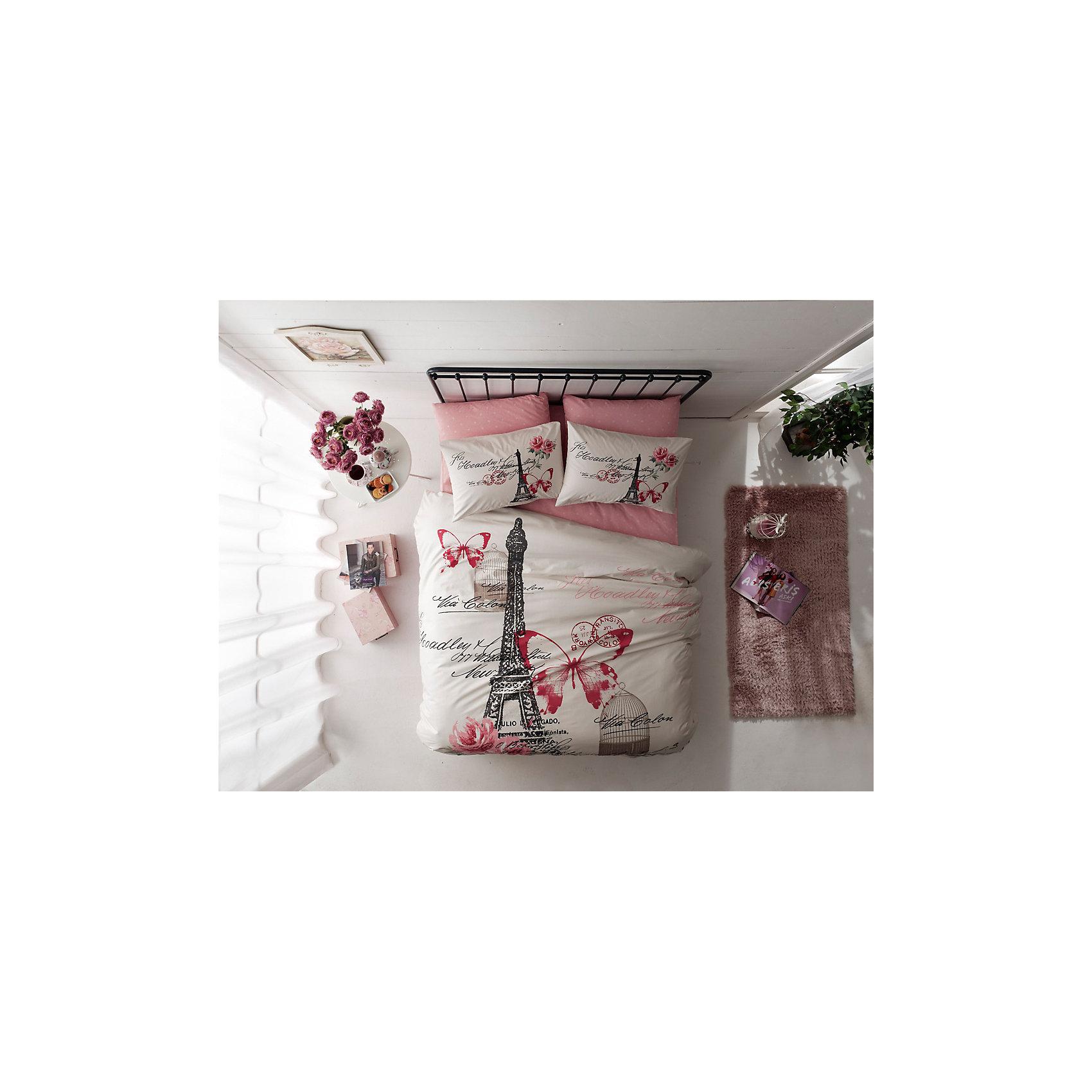 Постельное белье 1,5 сп. Giselle, Ranforce, TAC, розовыйДомашний текстиль<br>Характеристики товара: <br><br>• комплектация: пододеяльник (160х220см), наволочка 2шт.(50х70см), простынь (180х260см)<br>• общий размер: 1,5-спальный;<br>• материал: ранфорс (100% хлопок);<br>• цвет: розовый;<br>• страна бренда: Турция;<br>• страна производитель: Турция.<br><br>Это постельное бельё от турецкого бренда TAC (ТАЧ) отлично впишется в интерьер. Несмотря на плотность ткани, она состоит из мельчайших волокон, что придаёт мягкость и воздушность изделию. Все материалы, которые входят в состав этого комплекта, гипоаллергенны и не вызывают неприятных ощущений. Это бельё не боится воды, так как пропускает через себя около 20% влаги и выводит наружу, поэтому её очень легко сушить. Такие материалы не электризуются, а наоборот способствуют улучшению сна и хорошо пропускают воздух. <br><br>Такой комплект очень устойчив к частым стиркам, его рекомендуется стирать обычным порошком. Ткань отличается особой износоустойчивостью и прочностью.<br><br>Постельное белье Gisellу (Джисели) можно купить в нашем интернет-магазине.<br><br>Ширина мм: 270<br>Глубина мм: 70<br>Высота мм: 390<br>Вес г: 2200<br>Возраст от месяцев: 216<br>Возраст до месяцев: 1188<br>Пол: Унисекс<br>Возраст: Детский<br>SKU: 6849249