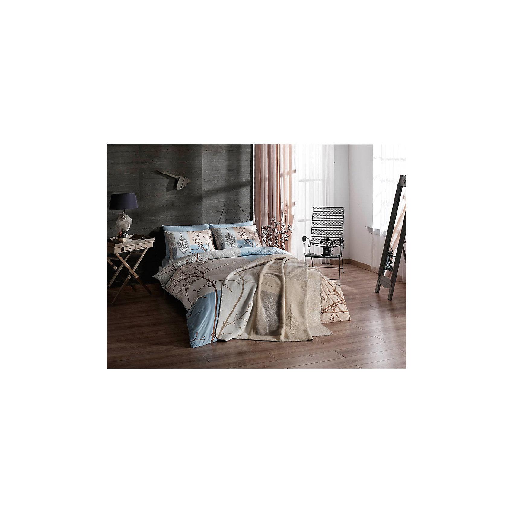 Постельное белье 2 сп. Laurel, Ranforce, TAC, бирюзовыйДомашний текстиль<br>Характеристики товара: <br><br>• комплектация: пододеяльник (200х220см), наволочка 2шт.(50х70см), простынь (240х260см);<br>• общий размер: 2-спальный;<br>• материал: ранфорс (100% хлопок);<br>• цвет: бирюзовый;<br>• страна бренда: Турция;<br>• страна производитель: Турция.<br><br>Это постельное бельё от турецкого бренда TAC (ТАЧ) отлично впишется в интерьер. Несмотря на плотность ткани, она состоит из мельчайших волокон, что придаёт мягкость и воздушность изделию. Все материалы, которые входят в состав этого комплекта, гипоаллергенны и не вызывают неприятных ощущений.<br><br>Постельное бельё не боится воды, так как пропускает через себя около 20% влаги и выводит наружу, поэтому её очень легко сушить. Такие материалы не электризуются, а наоборот способствуют улучшению сна и хорошо пропускают воздух. <br><br>Такой комплект очень устойчив к частым стиркам, его рекомендуется стирать обычным порошком. Ткань отличается особой износоустойчивостью и прочностью.<br><br>Постельное бельё Laurel (Лаурель) можно купить в нашем интернет-магазине.<br><br>Ширина мм: 270<br>Глубина мм: 70<br>Высота мм: 390<br>Вес г: 2800<br>Возраст от месяцев: 216<br>Возраст до месяцев: 1188<br>Пол: Унисекс<br>Возраст: Детский<br>SKU: 6849251
