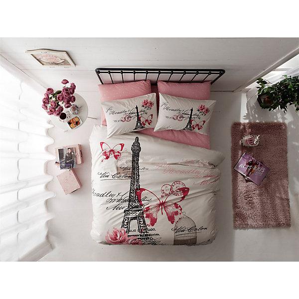 Постельное белье 2 сп. Giselle, Ranforce, TAC, розовыйВзрослое постельное бельё<br>Характеристики товара: <br><br>• комплектация: пододеяльник (200х220см), наволочка 2шт.(50х70см), простынь (240х260см);<br>• общий размер: 2-спальный;<br>• материал: ранфорс (100% хлопок);<br>• цвет: розовый;<br>• страна бренда: Турция;<br>• страна производитель: Турция.<br><br>Это постельное бельё от турецкого бренда TAC (ТАЧ) отлично впишется в интерьер. Несмотря на плотность ткани, она состоит из мельчайших волокон, что придаёт мягкость и воздушность изделию. Все материалы, которые входят в состав этого комплекта, гипоаллергенны и не вызывают неприятных ощущений. <br><br>Постелное бельё не боится воды, так как пропускает через себя около 20% влаги и выводит наружу, поэтому её очень легко сушить. Такие материалы не электризуются, а наоборот способствуют улучшению сна и хорошо пропускают воздух. <br><br>Такой комплект очень устойчив к частым стиркам, его рекомендуется стирать обычным порошком. Ткань отличается особой износоустойчивостью и прочностью.<br><br>Постельное белье Gisellу (Джисели) можно купить в нашем интернет-магазине.<br><br>Ширина мм: 270<br>Глубина мм: 70<br>Высота мм: 390<br>Вес г: 2800<br>Возраст от месяцев: 216<br>Возраст до месяцев: 1188<br>Пол: Унисекс<br>Возраст: Детский<br>SKU: 6849252